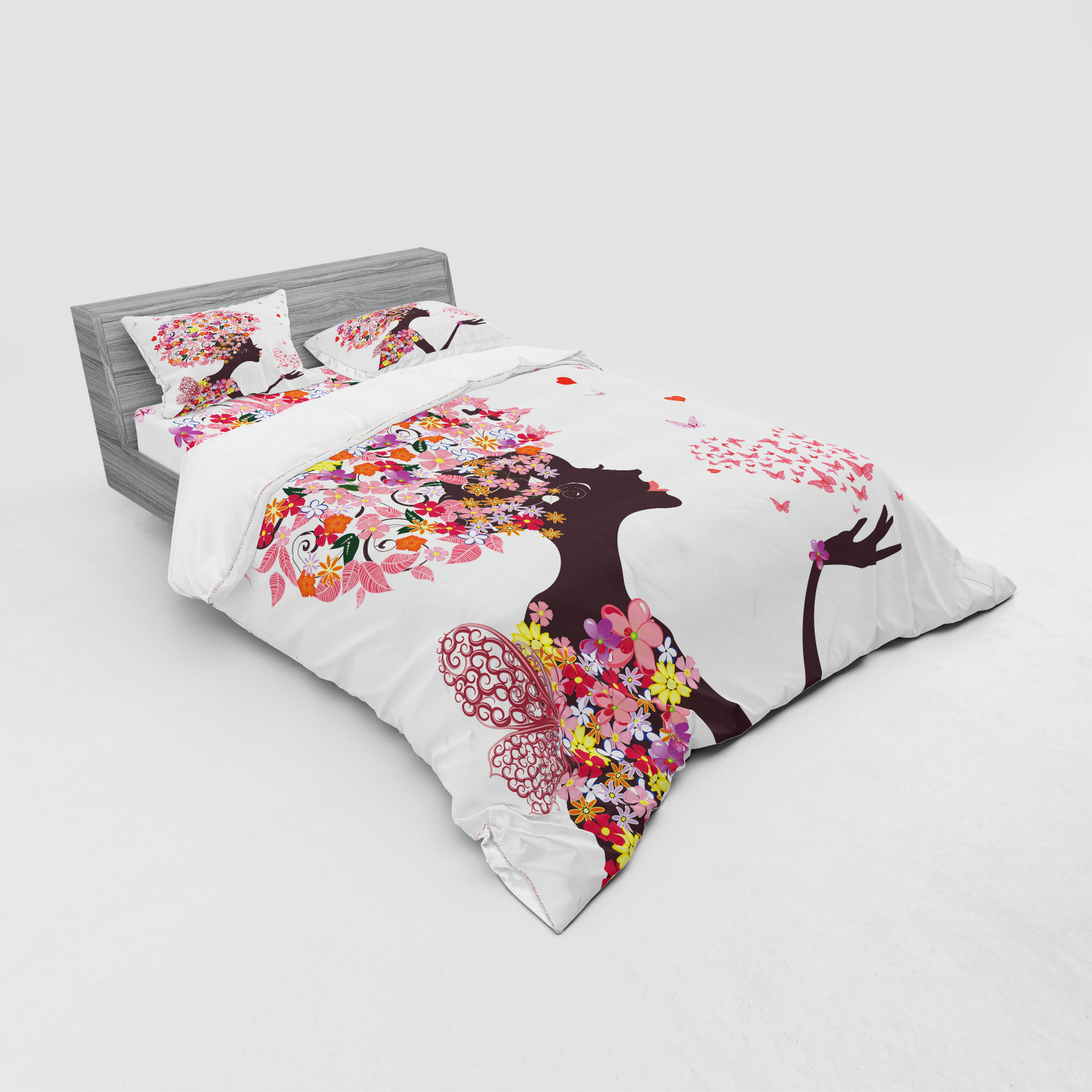 thumbnail 27 - Ambesonne Summer Bedding Set Duvet Cover Sham Fitted Sheet in 3 Sizes