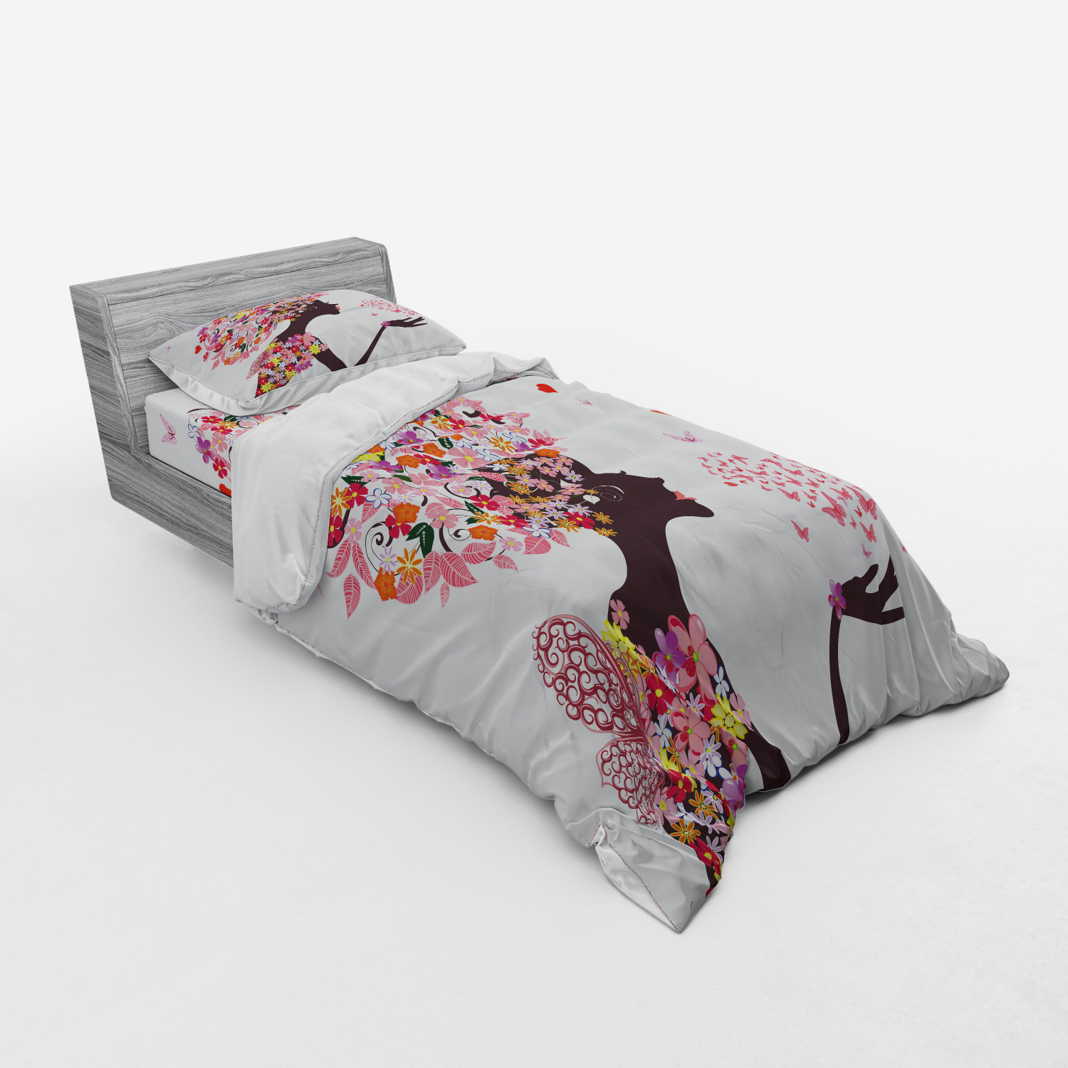 thumbnail 25 - Ambesonne Summer Bedding Set Duvet Cover Sham Fitted Sheet in 3 Sizes