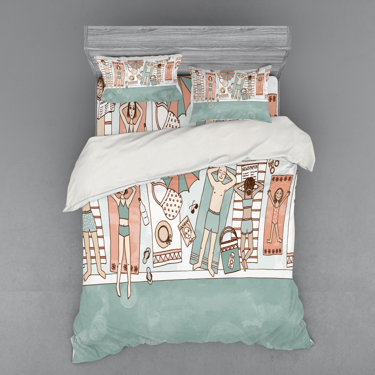 thumbnail 142 - Ambesonne Summer Bedding Set Duvet Cover Sham Fitted Sheet in 3 Sizes
