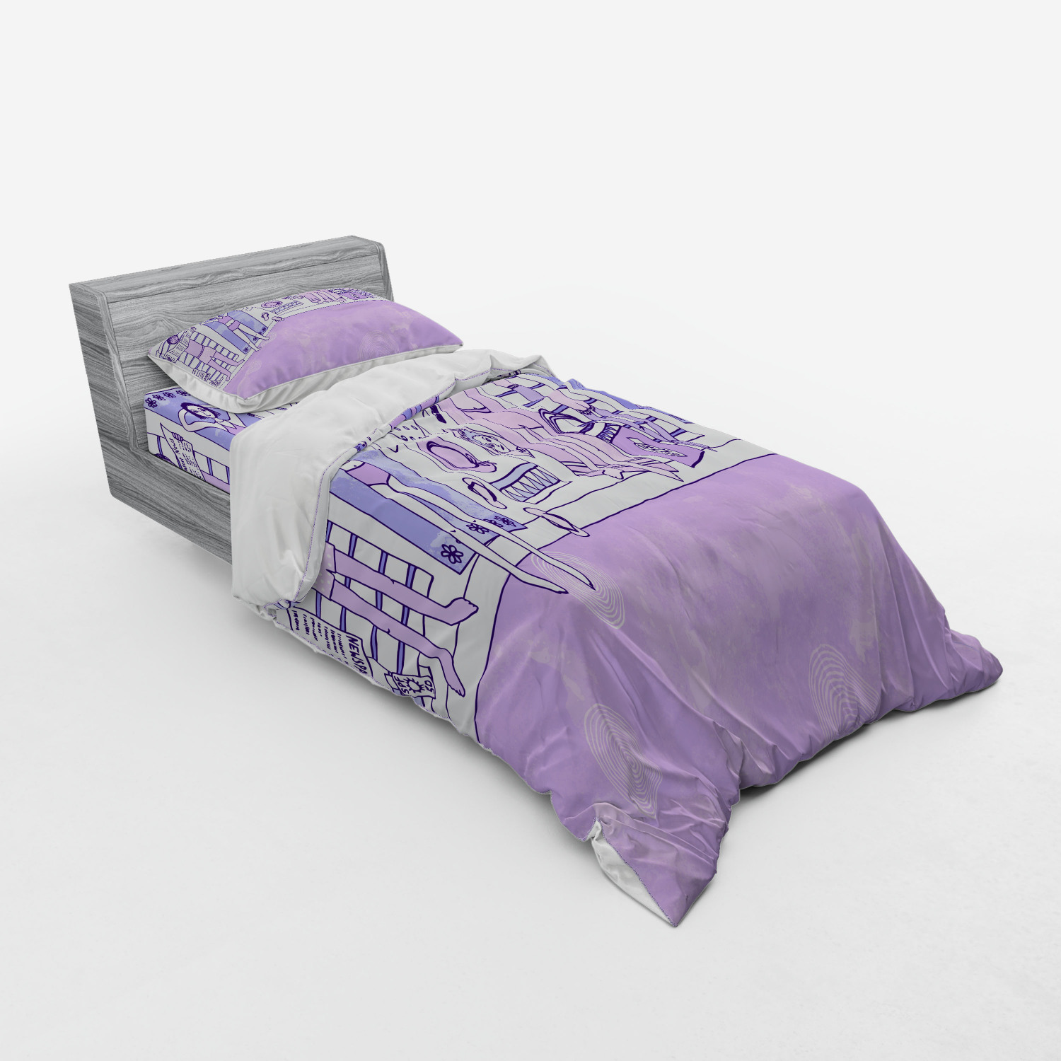 thumbnail 141 - Ambesonne Summer Bedding Set Duvet Cover Sham Fitted Sheet in 3 Sizes