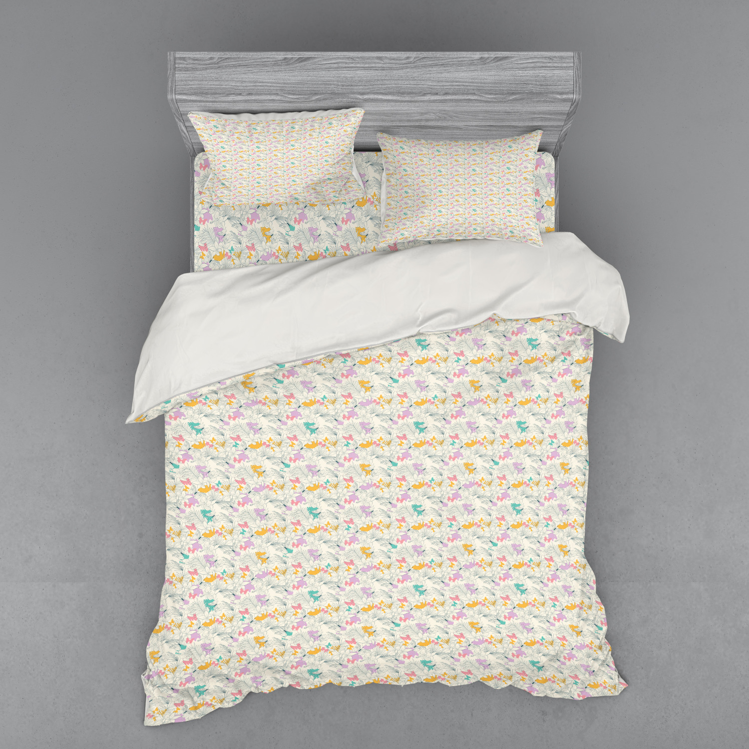thumbnail 6 - Ambesonne Summer Bedding Set Duvet Cover Sham Fitted Sheet in 3 Sizes