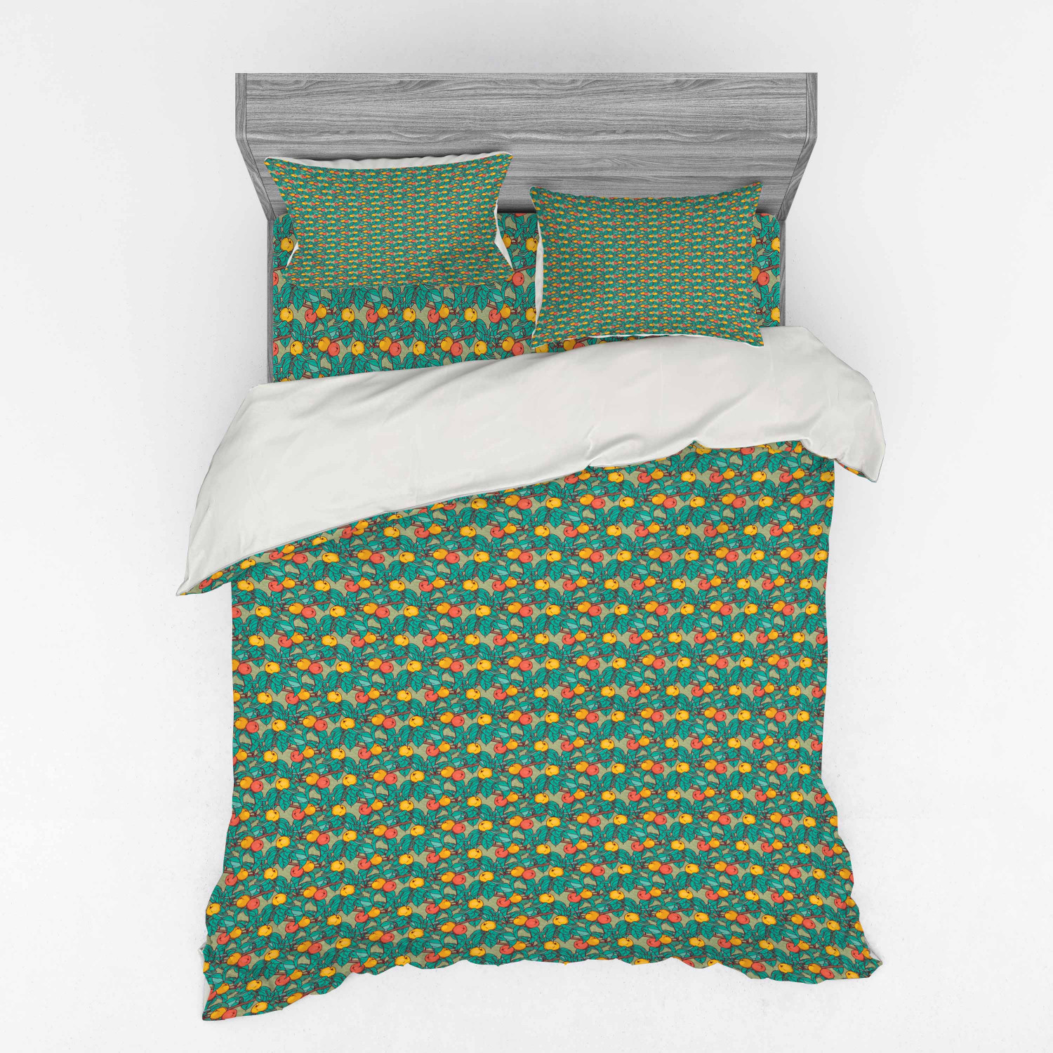 thumbnail 10 - Ambesonne Summer Bedding Set Duvet Cover Sham Fitted Sheet in 3 Sizes