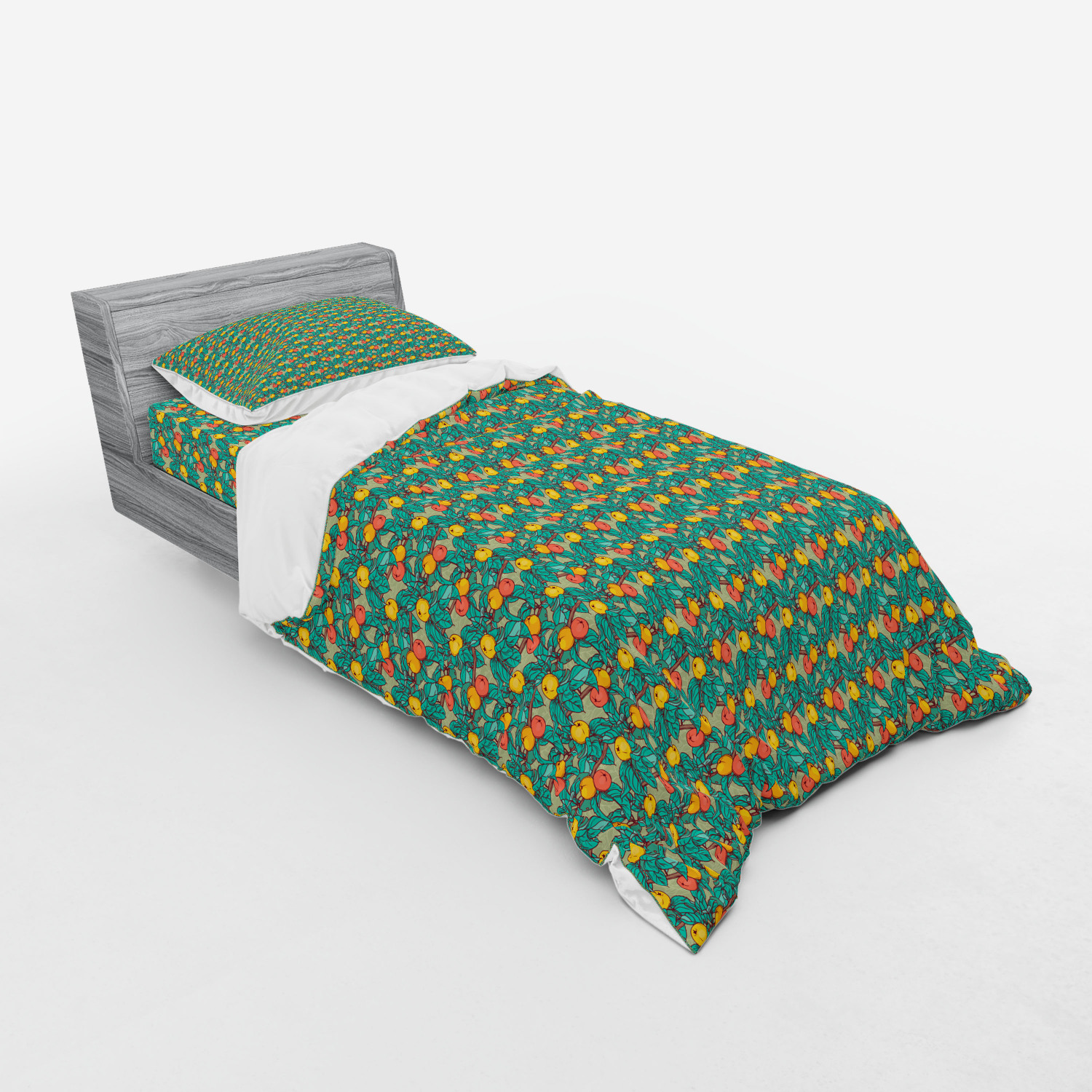 thumbnail 9 - Ambesonne Summer Bedding Set Duvet Cover Sham Fitted Sheet in 3 Sizes