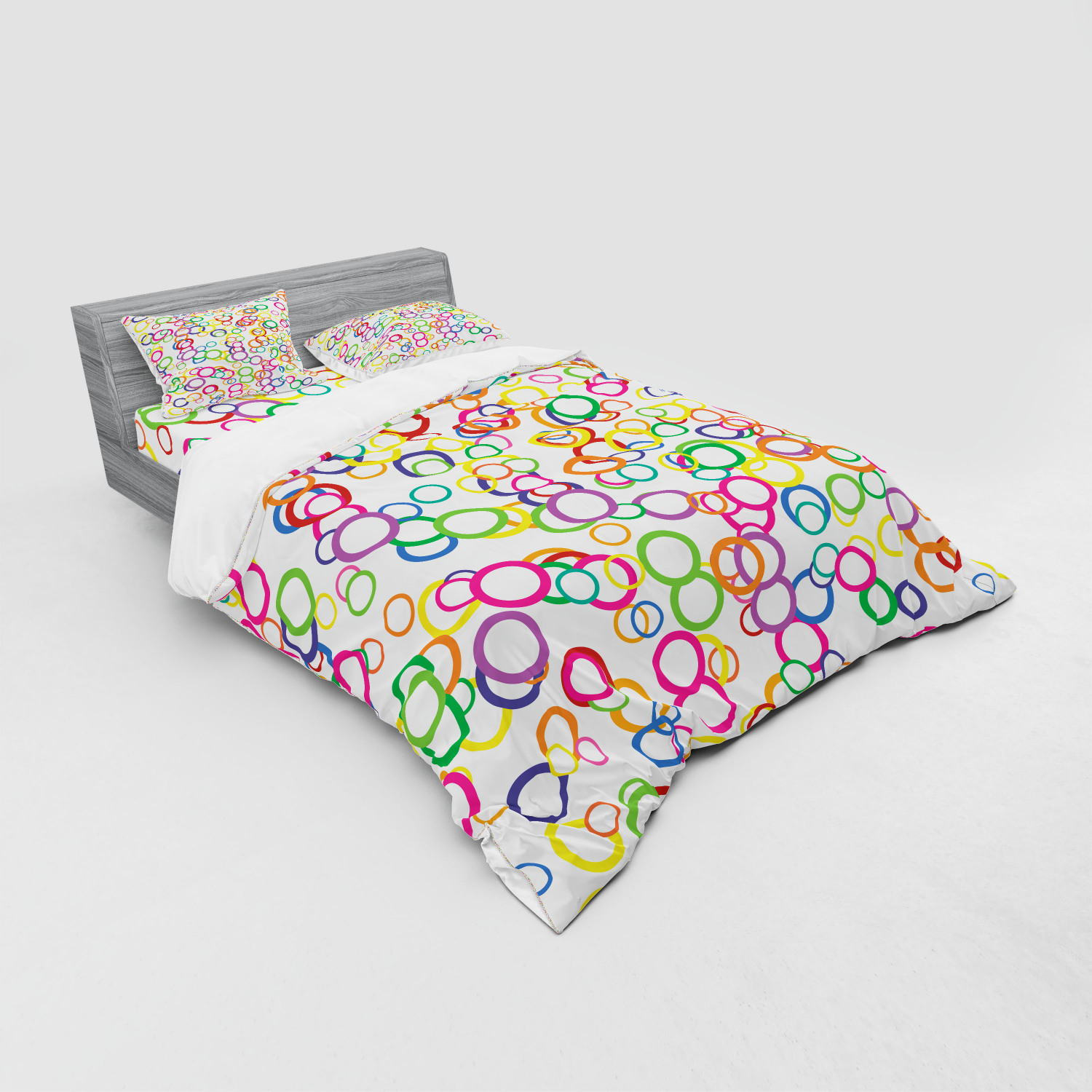 thumbnail 51 - Ambesonne Summer Bedding Set Duvet Cover Sham Fitted Sheet in 3 Sizes
