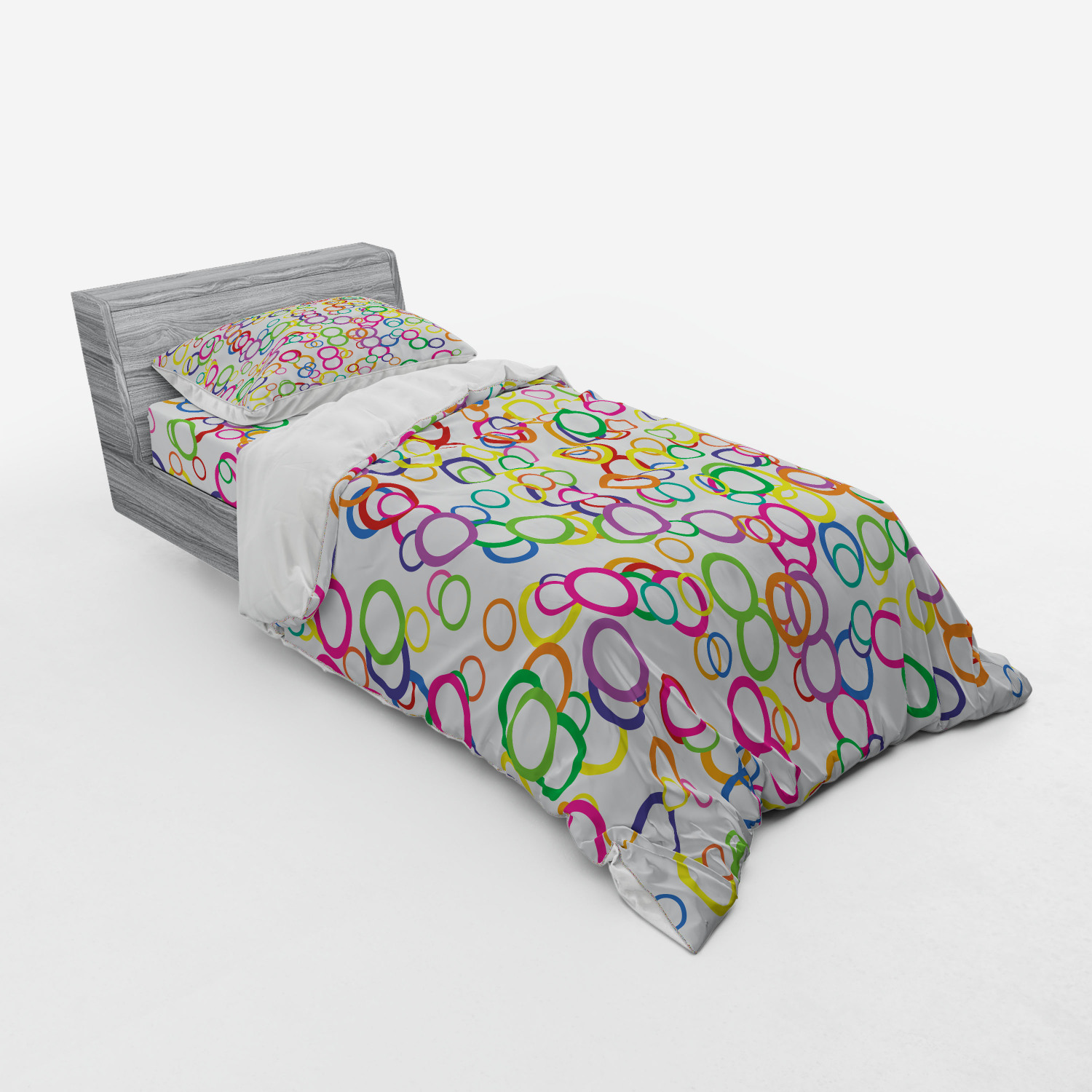 thumbnail 49 - Ambesonne Summer Bedding Set Duvet Cover Sham Fitted Sheet in 3 Sizes