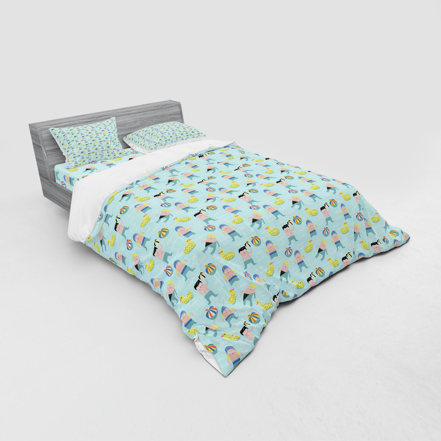thumbnail 243 - Ambesonne Summer Bedding Set Duvet Cover Sham Fitted Sheet in 3 Sizes