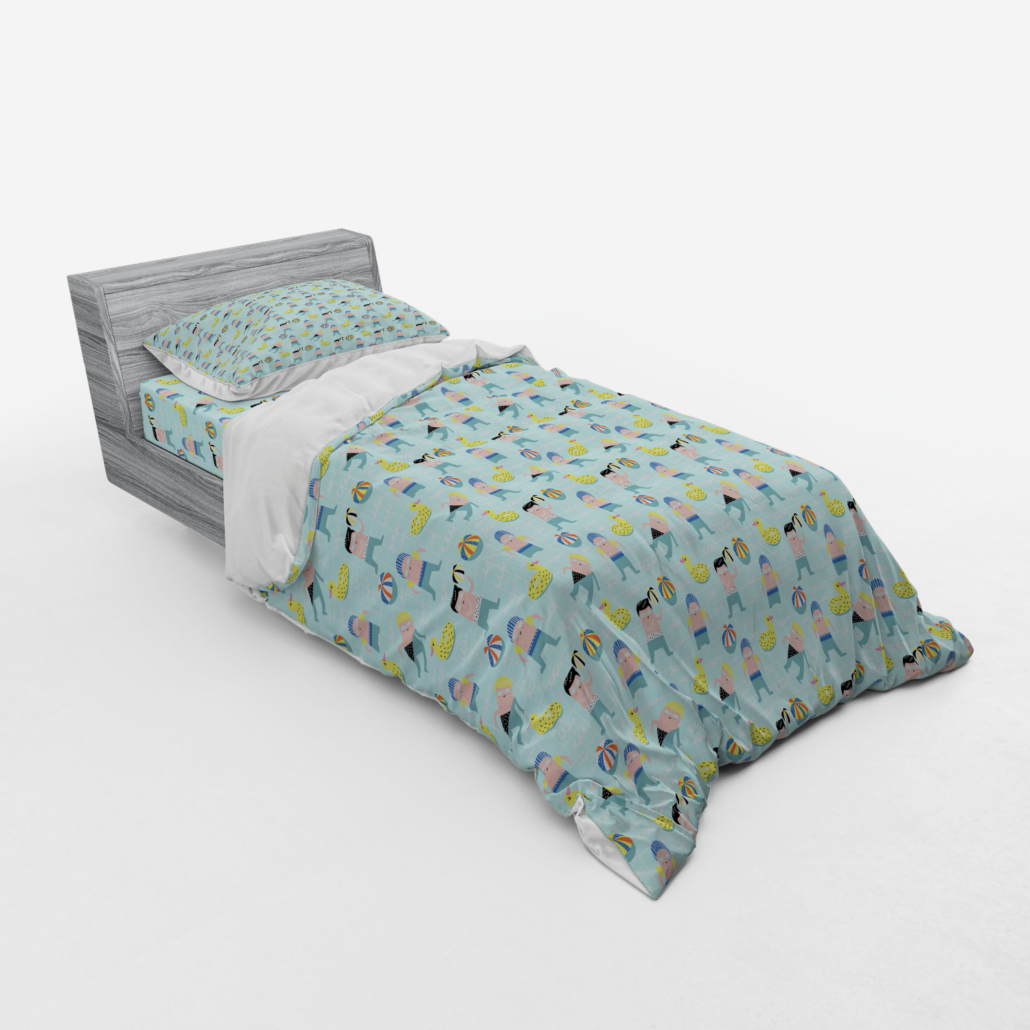thumbnail 241 - Ambesonne Summer Bedding Set Duvet Cover Sham Fitted Sheet in 3 Sizes