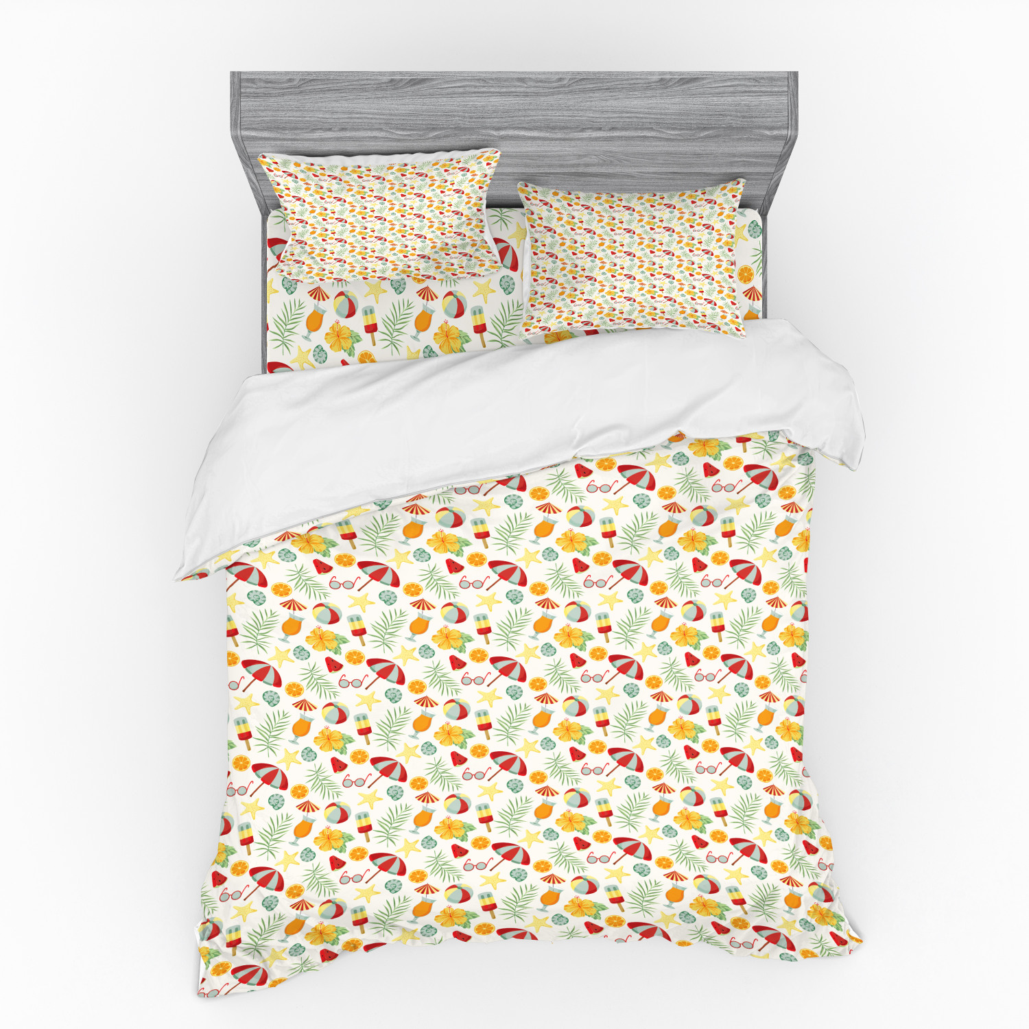 thumbnail 114 - Ambesonne Summer Bedding Set Duvet Cover Sham Fitted Sheet in 3 Sizes