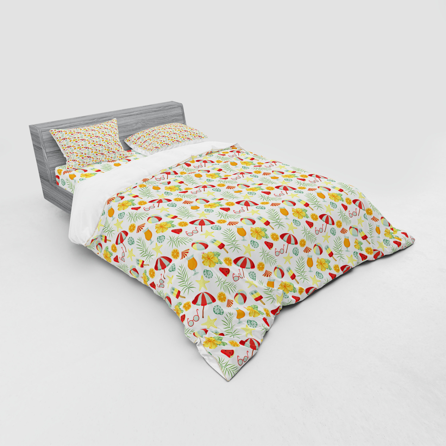 thumbnail 115 - Ambesonne Summer Bedding Set Duvet Cover Sham Fitted Sheet in 3 Sizes