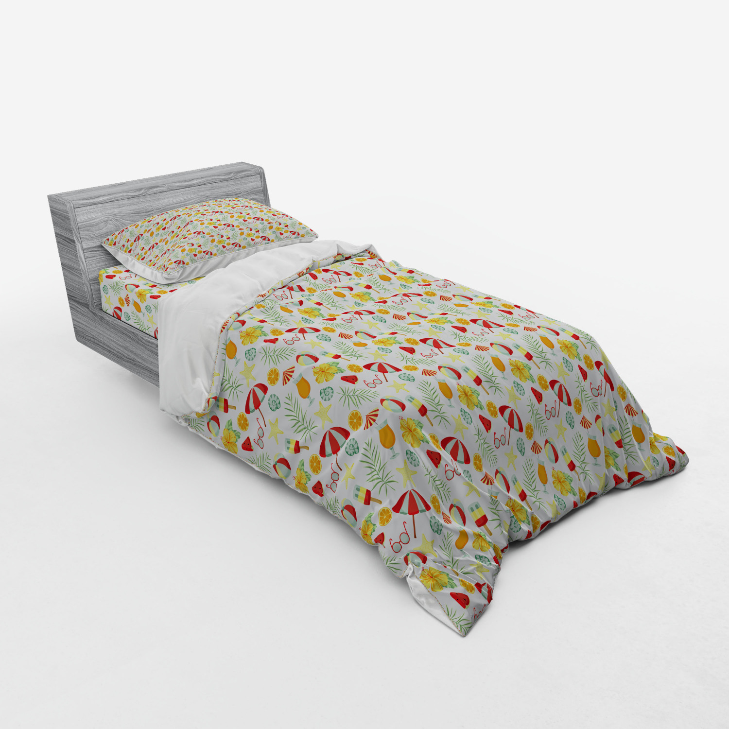 thumbnail 113 - Ambesonne Summer Bedding Set Duvet Cover Sham Fitted Sheet in 3 Sizes
