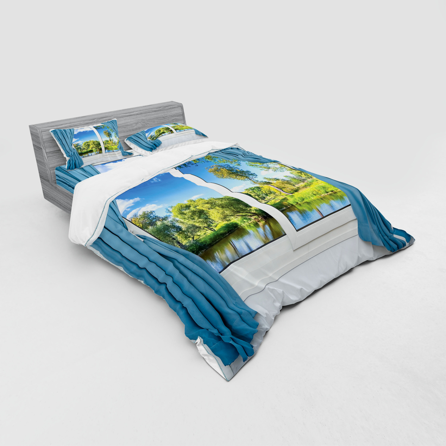 thumbnail 155 - Ambesonne Summer Bedding Set Duvet Cover Sham Fitted Sheet in 3 Sizes
