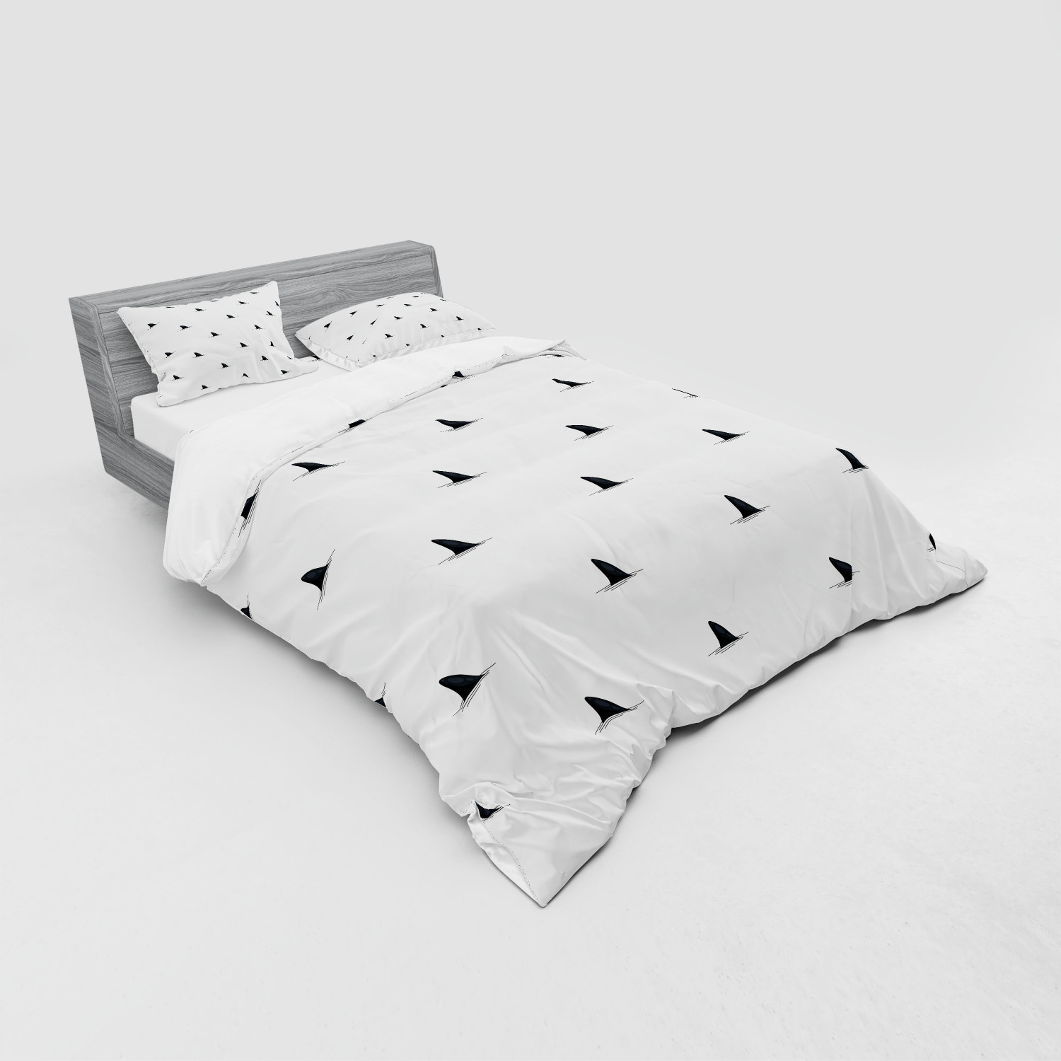 thumbnail 227 - Ambesonne Black White Art Bedding Set Duvet Cover Sham Fitted Sheet in 3 Sizes