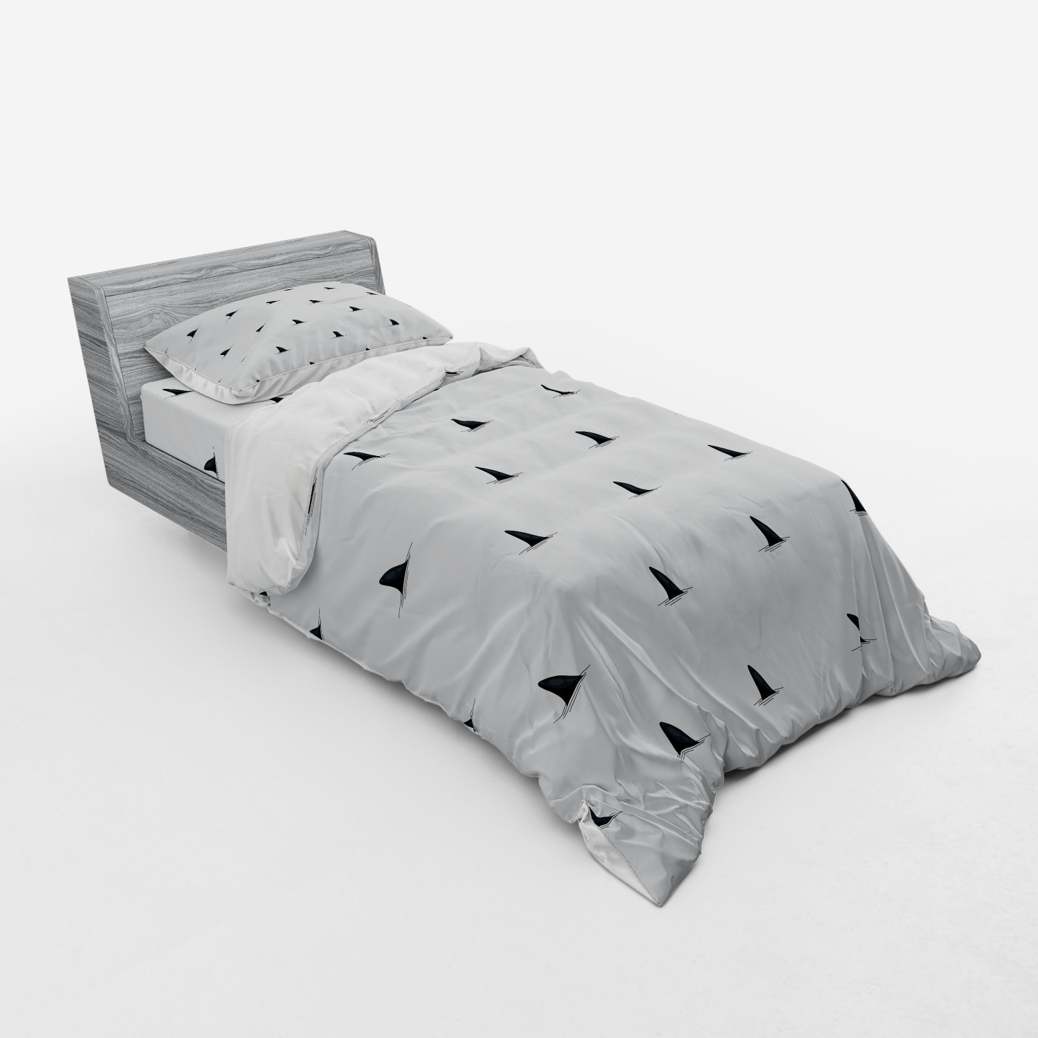 thumbnail 225 - Ambesonne Black White Art Bedding Set Duvet Cover Sham Fitted Sheet in 3 Sizes