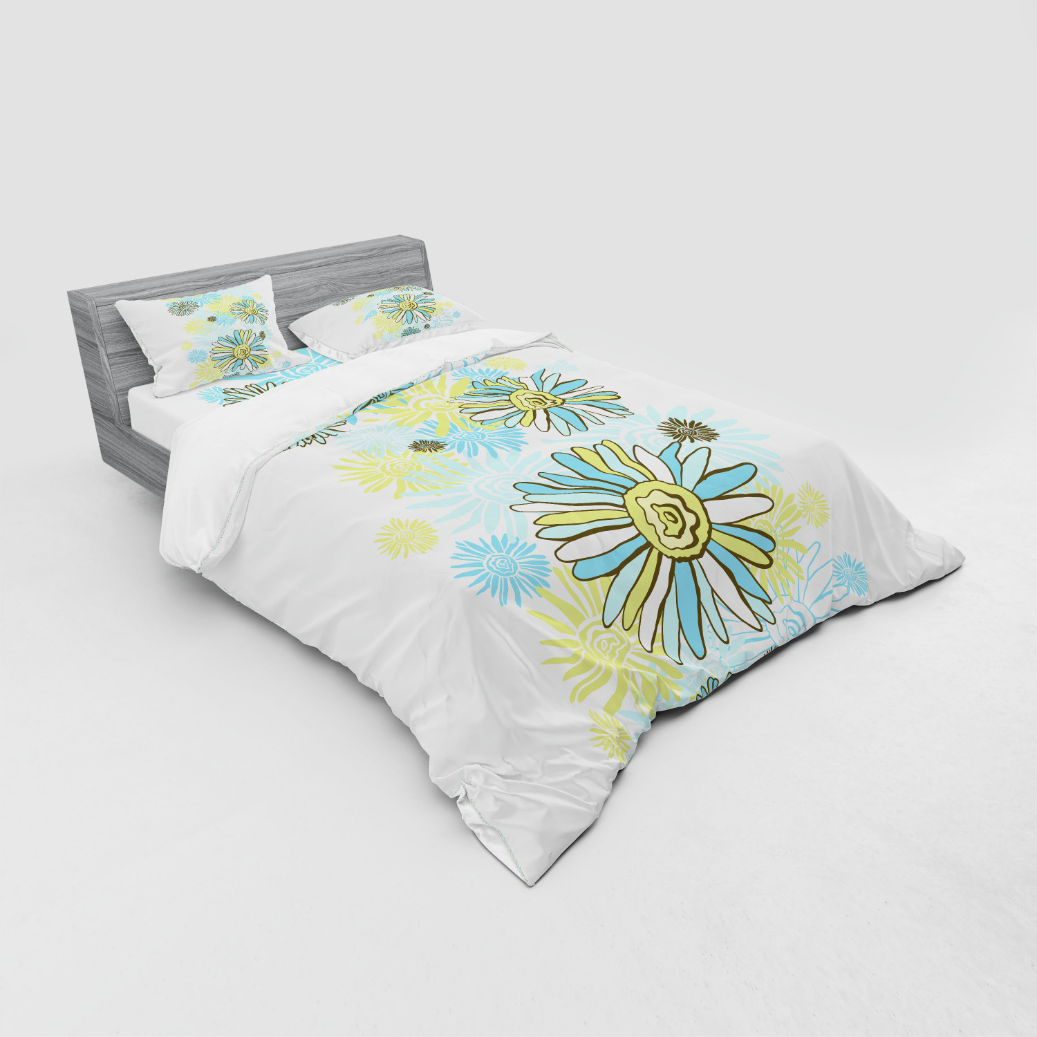 thumbnail 39 - Ambesonne Summer Bedding Set Duvet Cover Sham Fitted Sheet in 3 Sizes