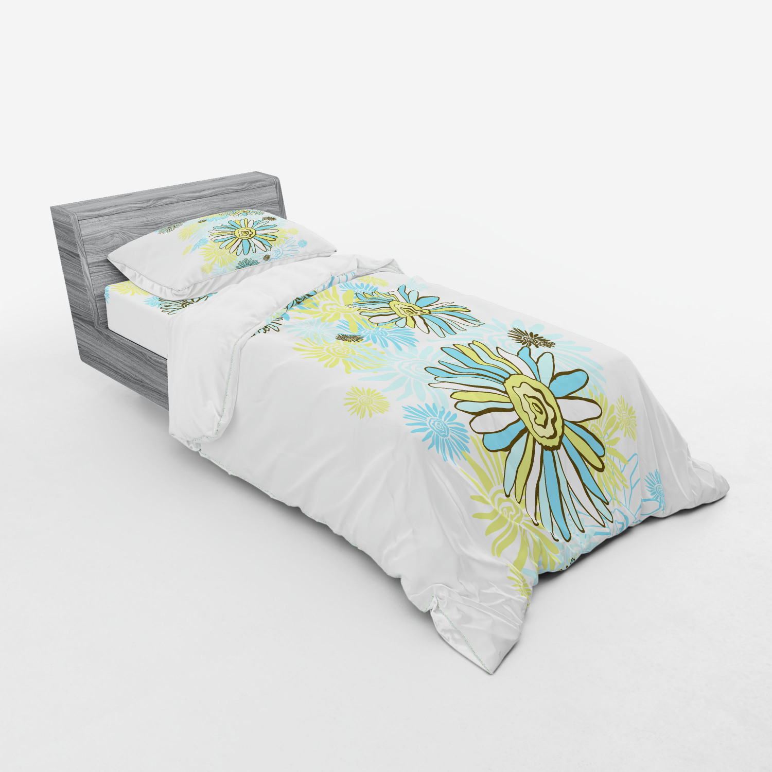 thumbnail 37 - Ambesonne Summer Bedding Set Duvet Cover Sham Fitted Sheet in 3 Sizes