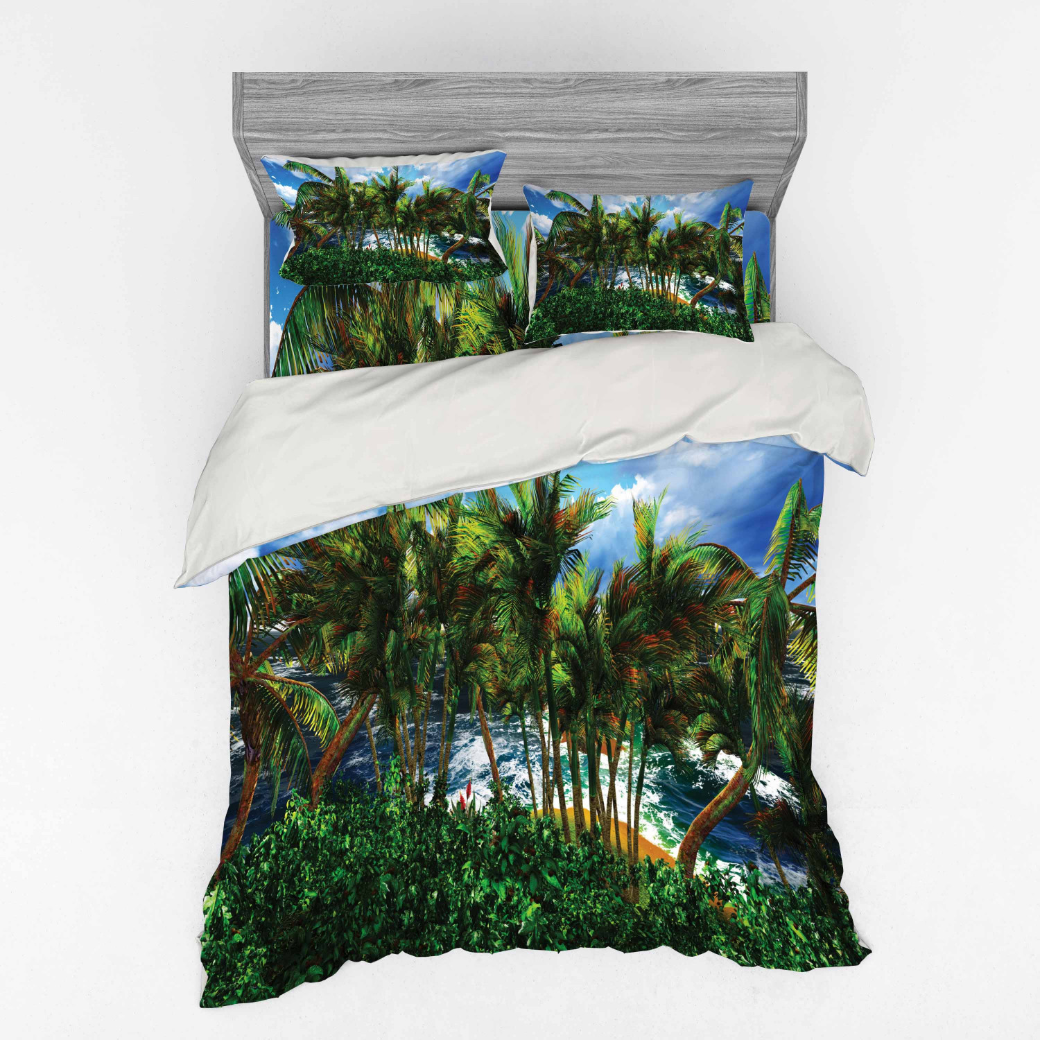 thumbnail 98 - Ambesonne Summer Bedding Set Duvet Cover Sham Fitted Sheet in 3 Sizes