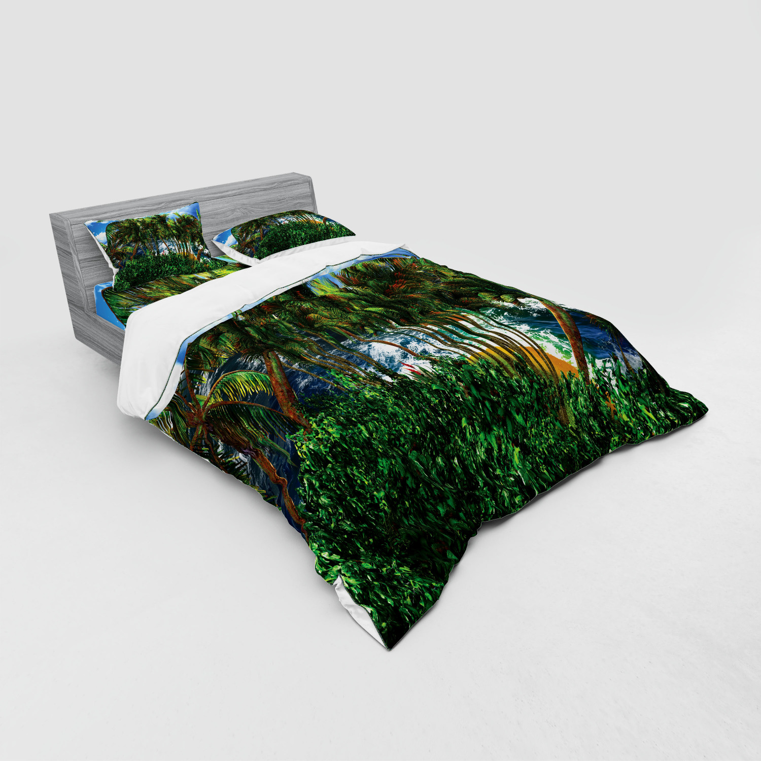 thumbnail 99 - Ambesonne Summer Bedding Set Duvet Cover Sham Fitted Sheet in 3 Sizes