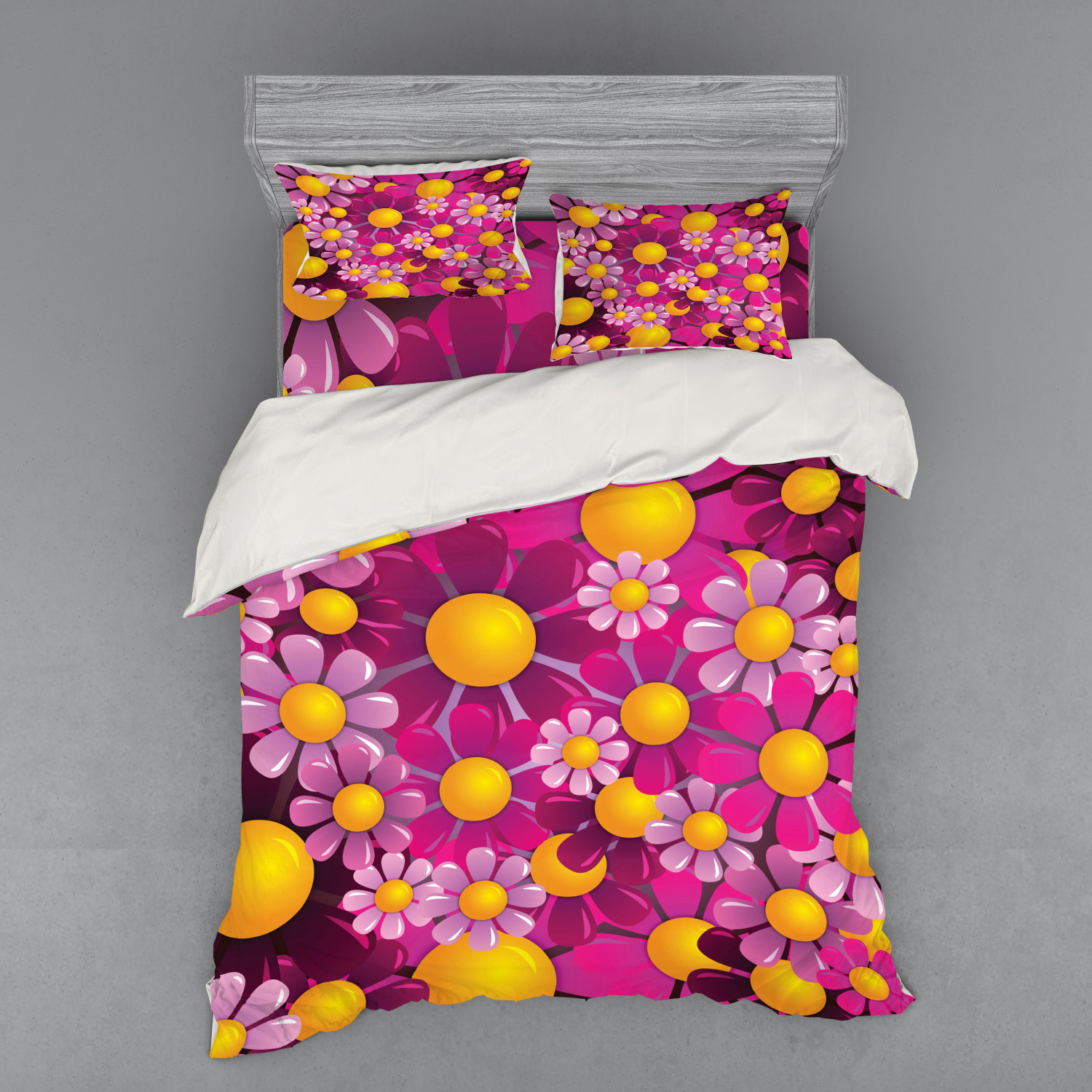 thumbnail 78 - Ambesonne Summer Bedding Set Duvet Cover Sham Fitted Sheet in 3 Sizes
