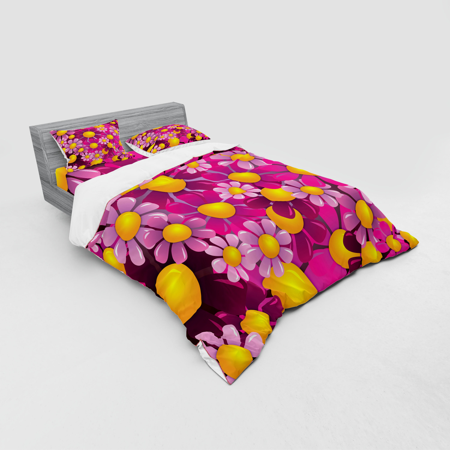thumbnail 79 - Ambesonne Summer Bedding Set Duvet Cover Sham Fitted Sheet in 3 Sizes