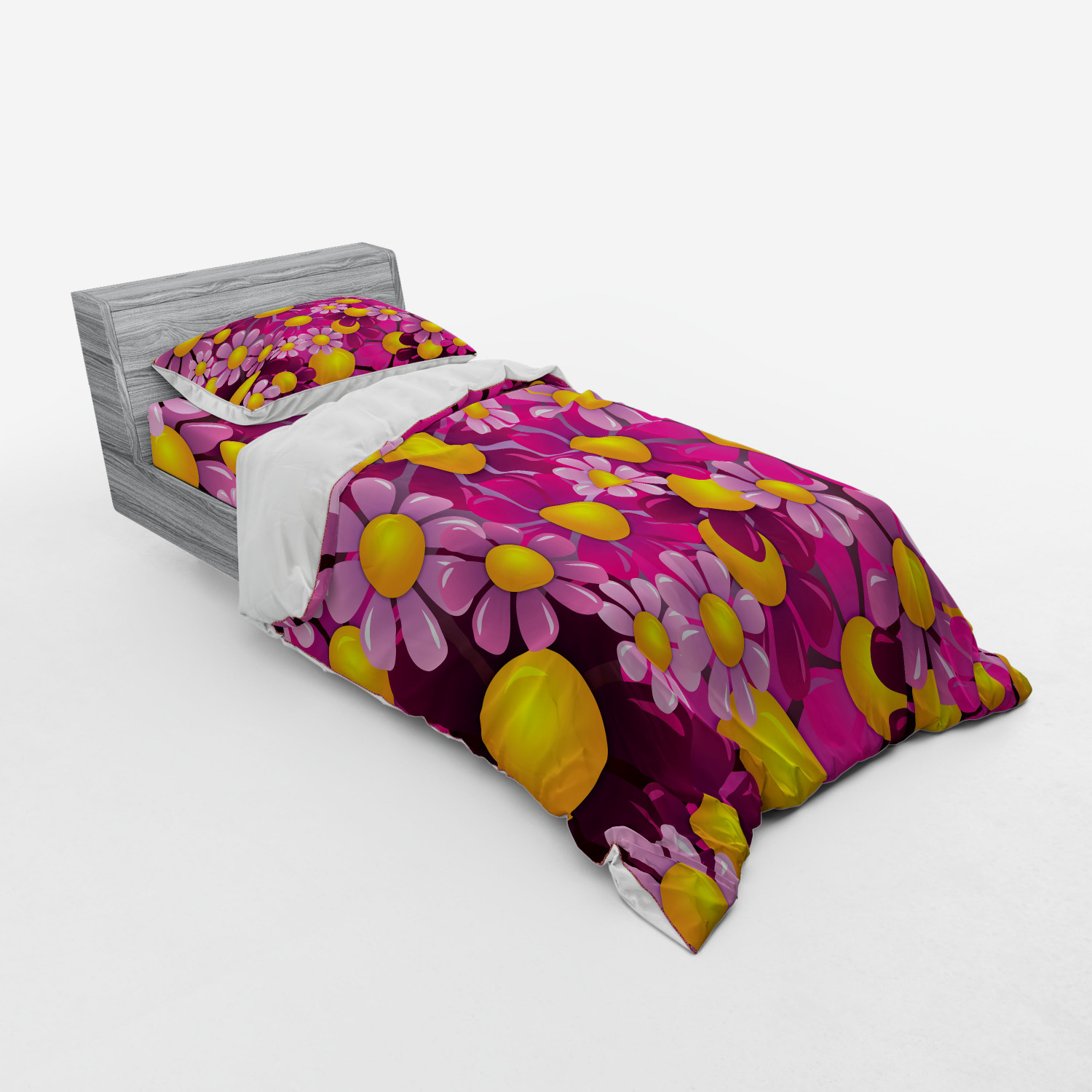 thumbnail 77 - Ambesonne Summer Bedding Set Duvet Cover Sham Fitted Sheet in 3 Sizes