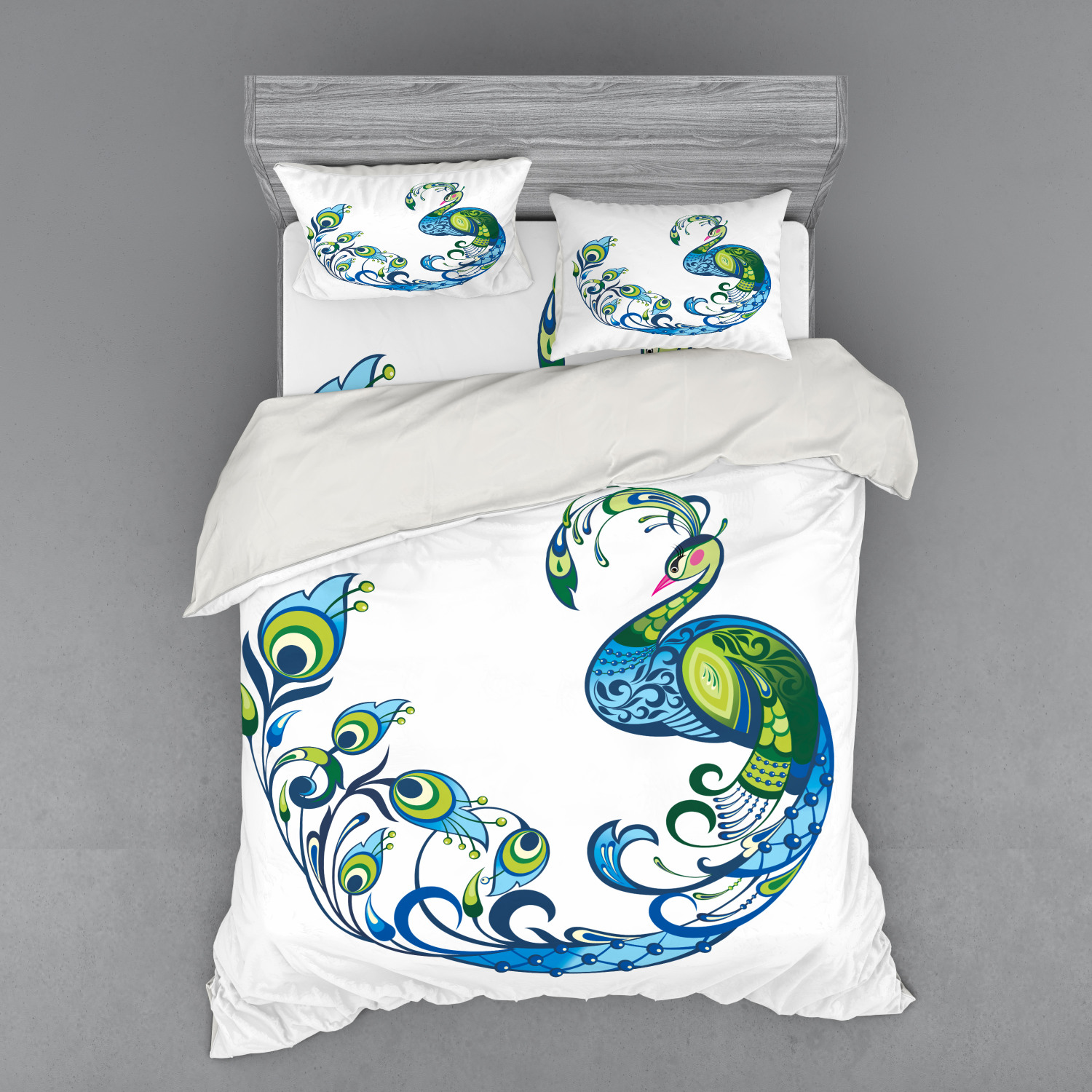 thumbnail 54 - Ambesonne Summer Bedding Set Duvet Cover Sham Fitted Sheet in 3 Sizes