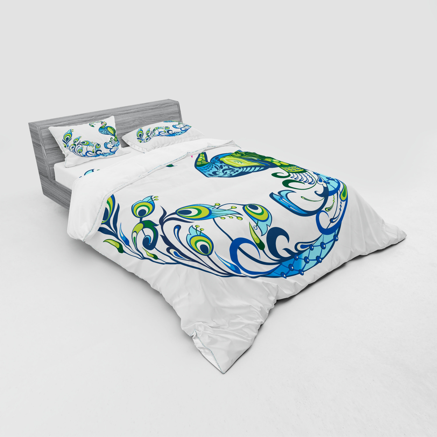 thumbnail 55 - Ambesonne Summer Bedding Set Duvet Cover Sham Fitted Sheet in 3 Sizes