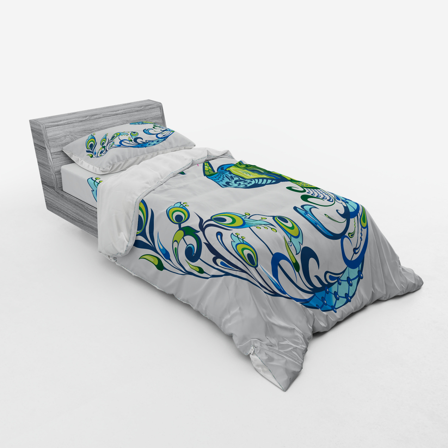 thumbnail 53 - Ambesonne Summer Bedding Set Duvet Cover Sham Fitted Sheet in 3 Sizes