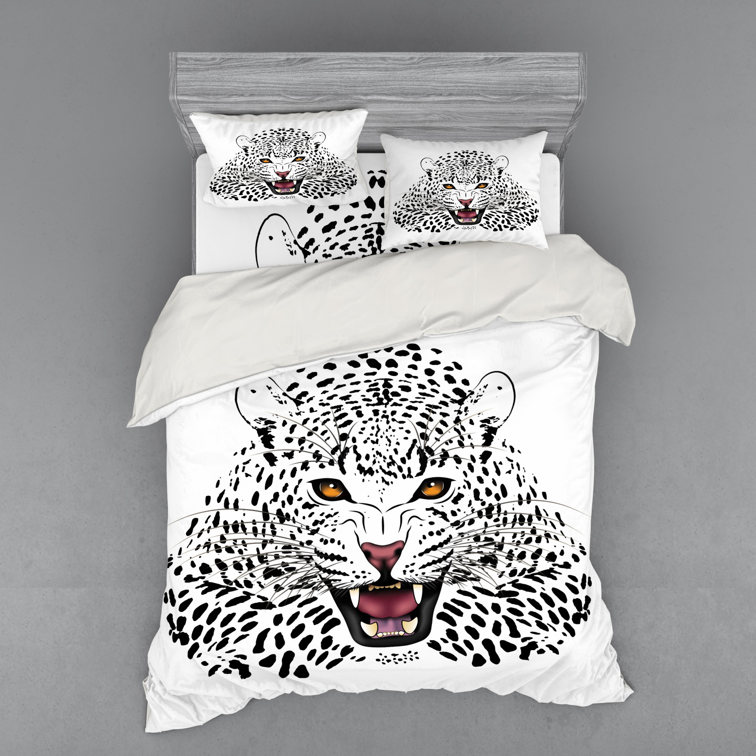 thumbnail 18 - Ambesonne Black White Art Bedding Set Duvet Cover Sham Fitted Sheet in 3 Sizes