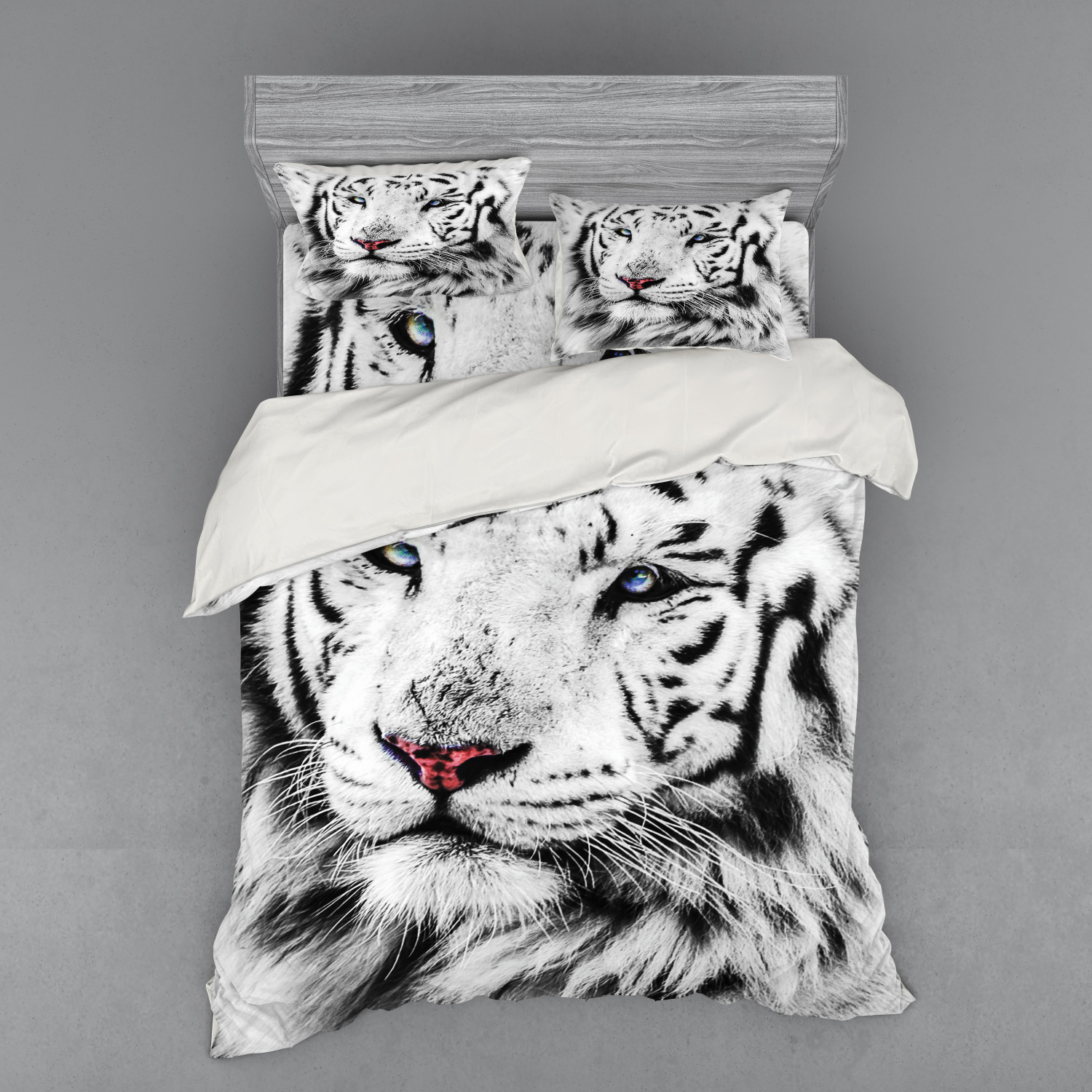 thumbnail 238 - Ambesonne Black White Art Bedding Set Duvet Cover Sham Fitted Sheet in 3 Sizes