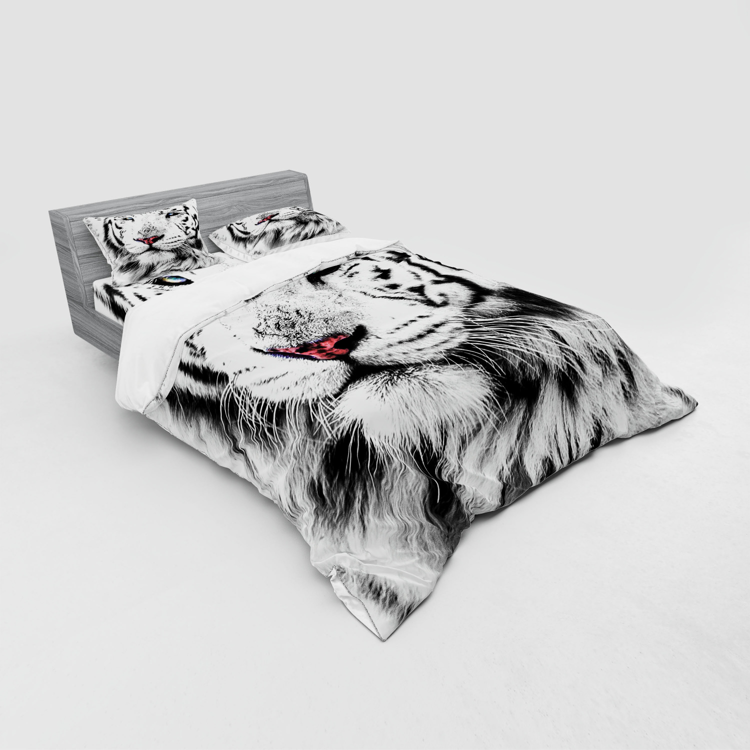 thumbnail 239 - Ambesonne Black White Art Bedding Set Duvet Cover Sham Fitted Sheet in 3 Sizes