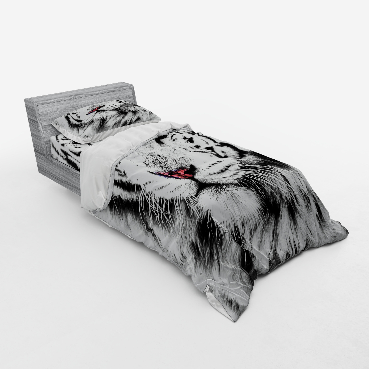 thumbnail 237 - Ambesonne Black White Art Bedding Set Duvet Cover Sham Fitted Sheet in 3 Sizes