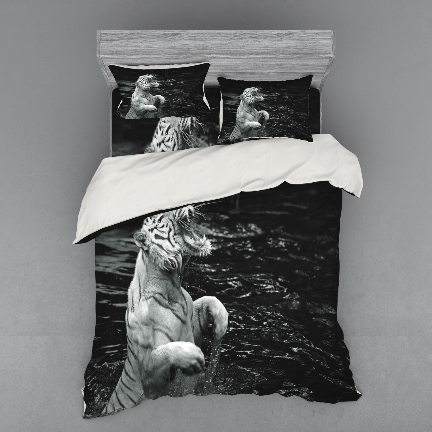 thumbnail 86 - Ambesonne Black White Art Bedding Set Duvet Cover Sham Fitted Sheet in 3 Sizes