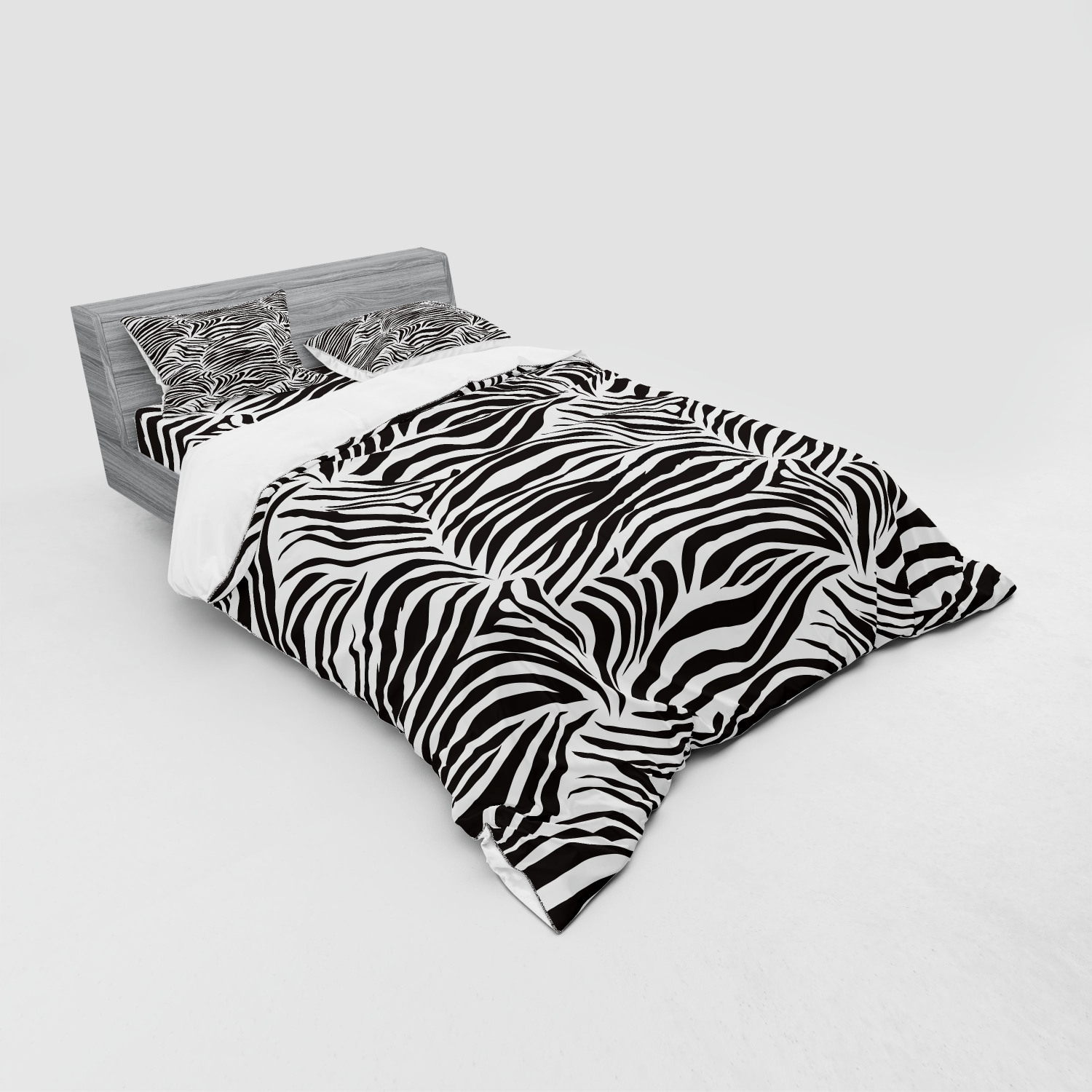 thumbnail 235 - Ambesonne Black White Art Bedding Set Duvet Cover Sham Fitted Sheet in 3 Sizes