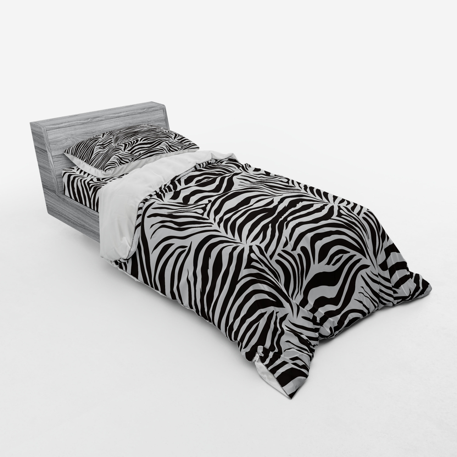 thumbnail 233 - Ambesonne Black White Art Bedding Set Duvet Cover Sham Fitted Sheet in 3 Sizes
