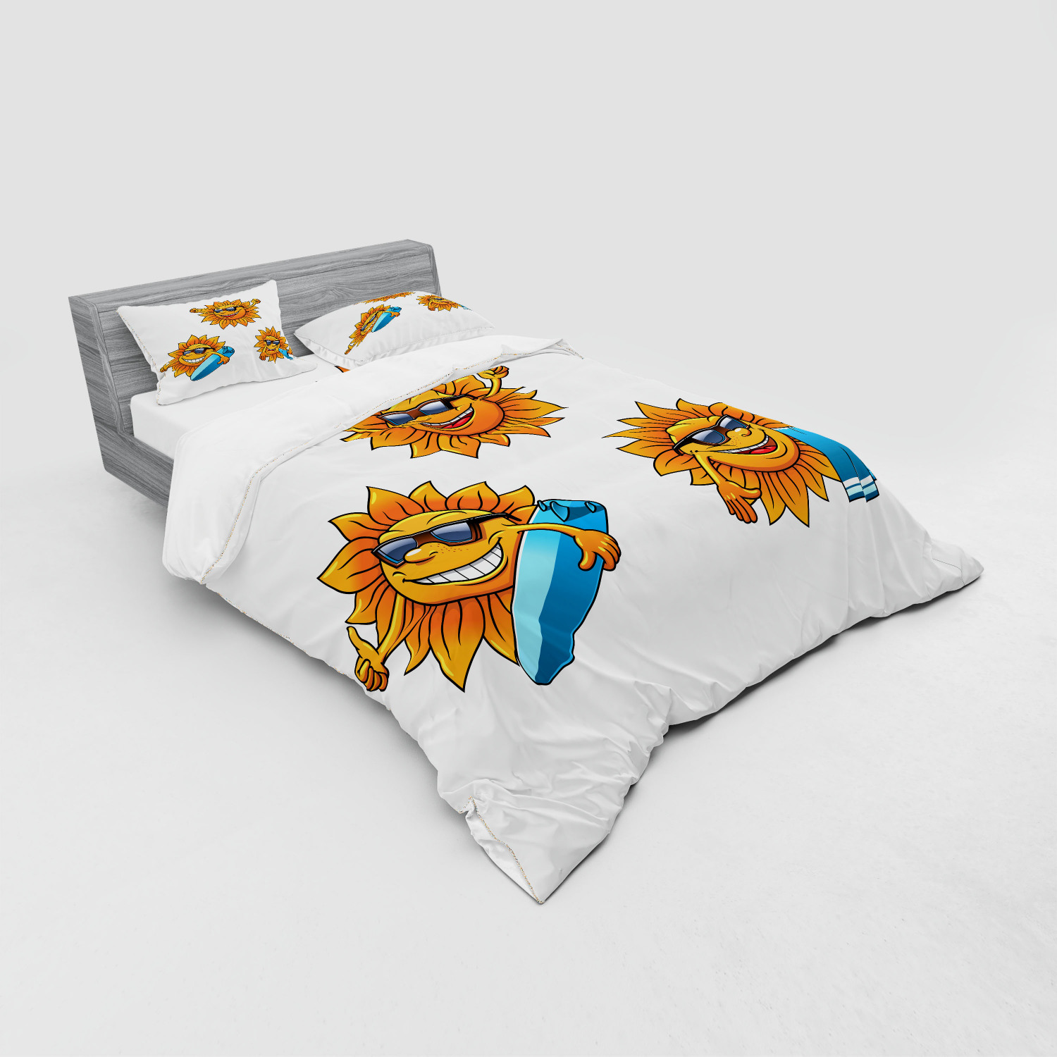 thumbnail 103 - Ambesonne Summer Bedding Set Duvet Cover Sham Fitted Sheet in 3 Sizes