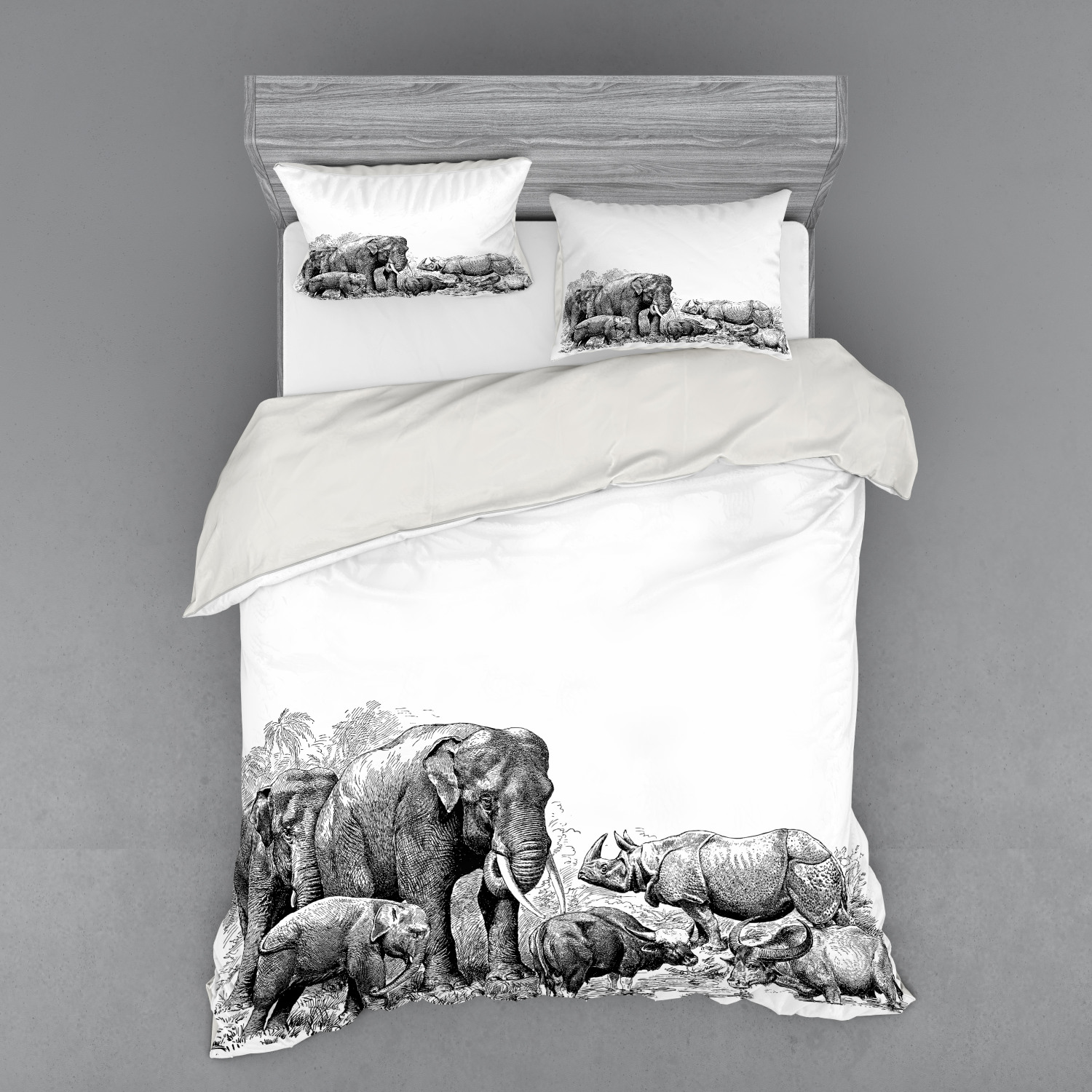 thumbnail 82 - Ambesonne Black White Art Bedding Set Duvet Cover Sham Fitted Sheet in 3 Sizes