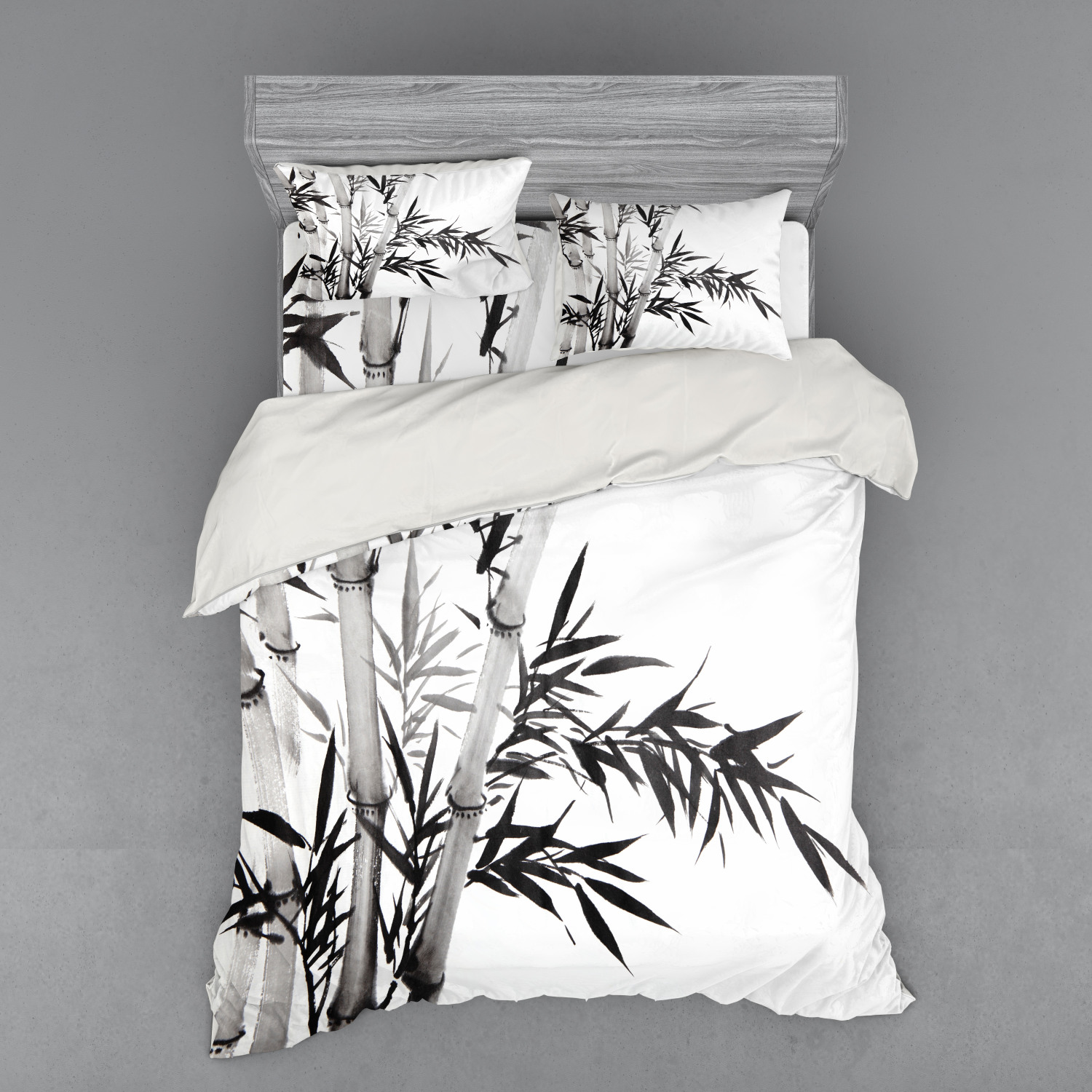 thumbnail 58 - Ambesonne Black White Art Bedding Set Duvet Cover Sham Fitted Sheet in 3 Sizes