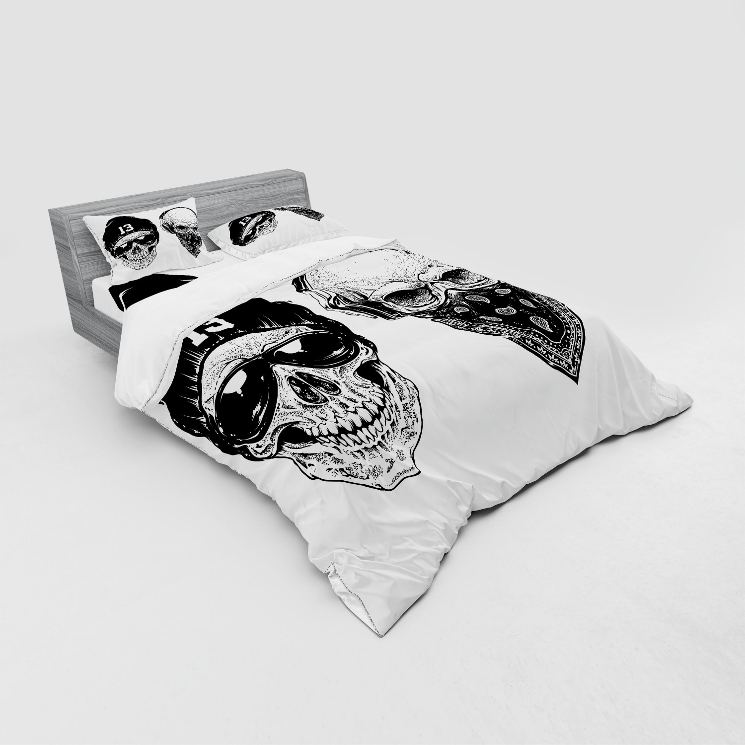 thumbnail 103 - Ambesonne Black White Art Bedding Set Duvet Cover Sham Fitted Sheet in 3 Sizes