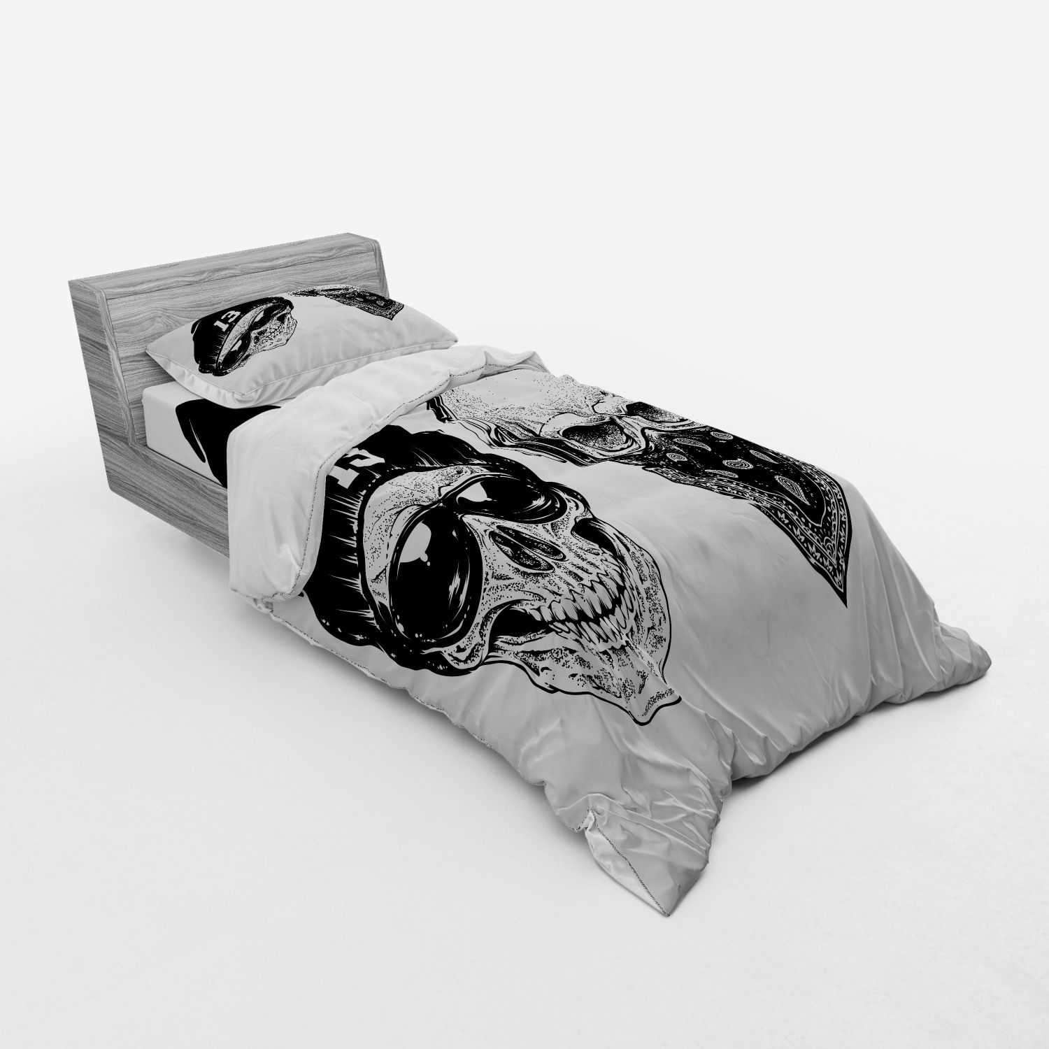 thumbnail 101 - Ambesonne Black White Art Bedding Set Duvet Cover Sham Fitted Sheet in 3 Sizes