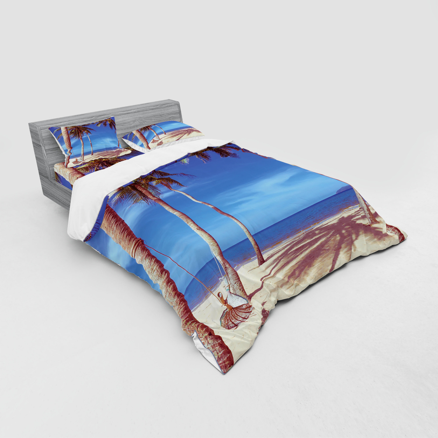 thumbnail 131 - Ambesonne Summer Bedding Set Duvet Cover Sham Fitted Sheet in 3 Sizes