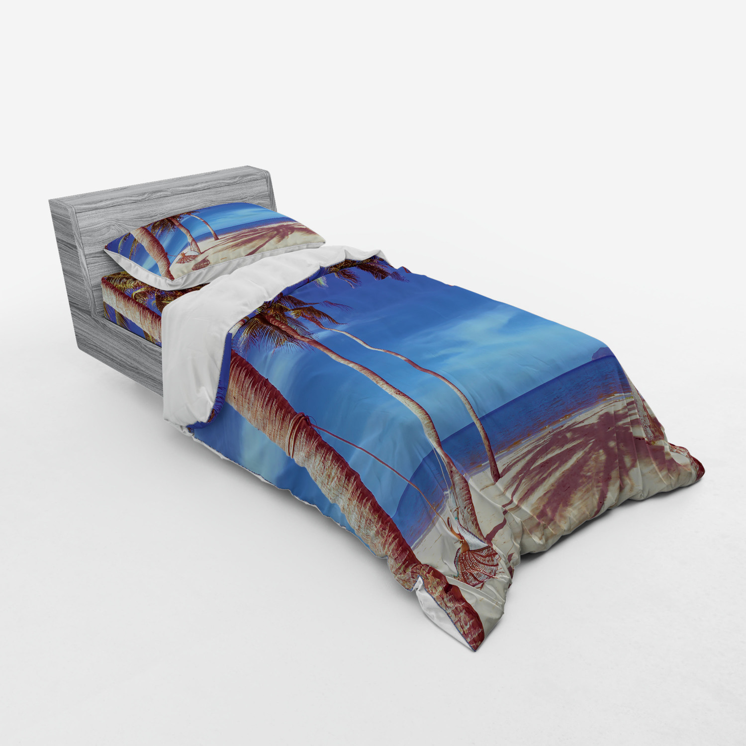thumbnail 129 - Ambesonne Summer Bedding Set Duvet Cover Sham Fitted Sheet in 3 Sizes