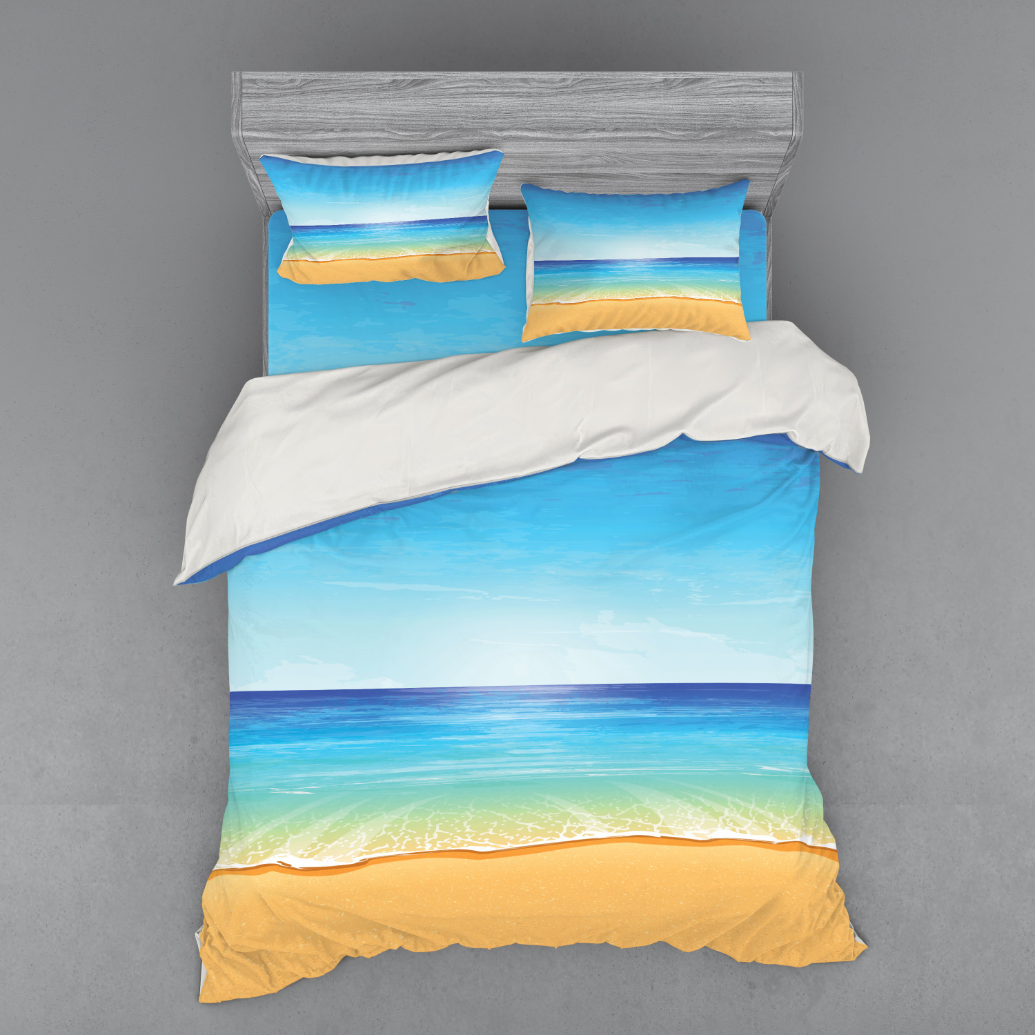 thumbnail 66 - Ambesonne Summer Bedding Set Duvet Cover Sham Fitted Sheet in 3 Sizes