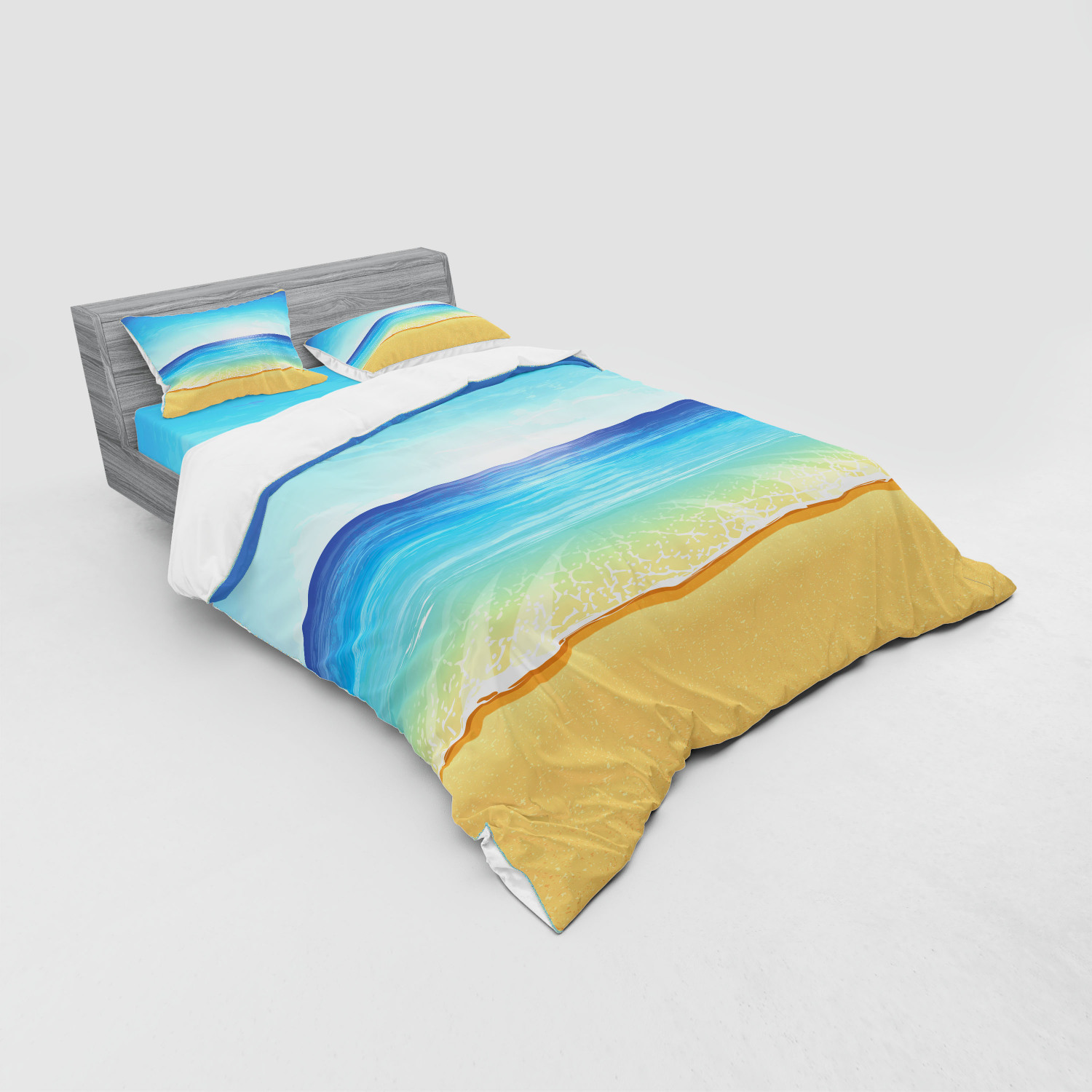 thumbnail 67 - Ambesonne Summer Bedding Set Duvet Cover Sham Fitted Sheet in 3 Sizes