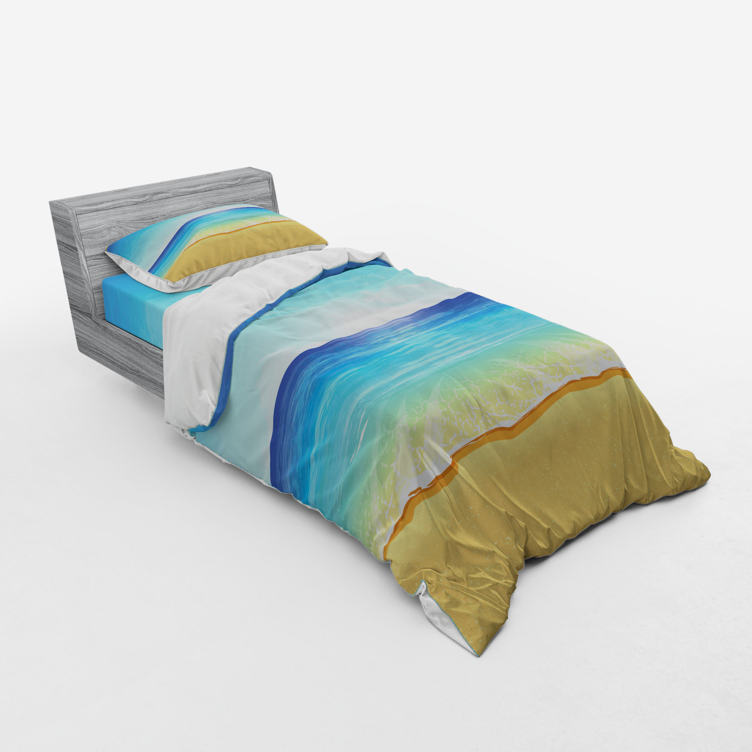 thumbnail 65 - Ambesonne Summer Bedding Set Duvet Cover Sham Fitted Sheet in 3 Sizes