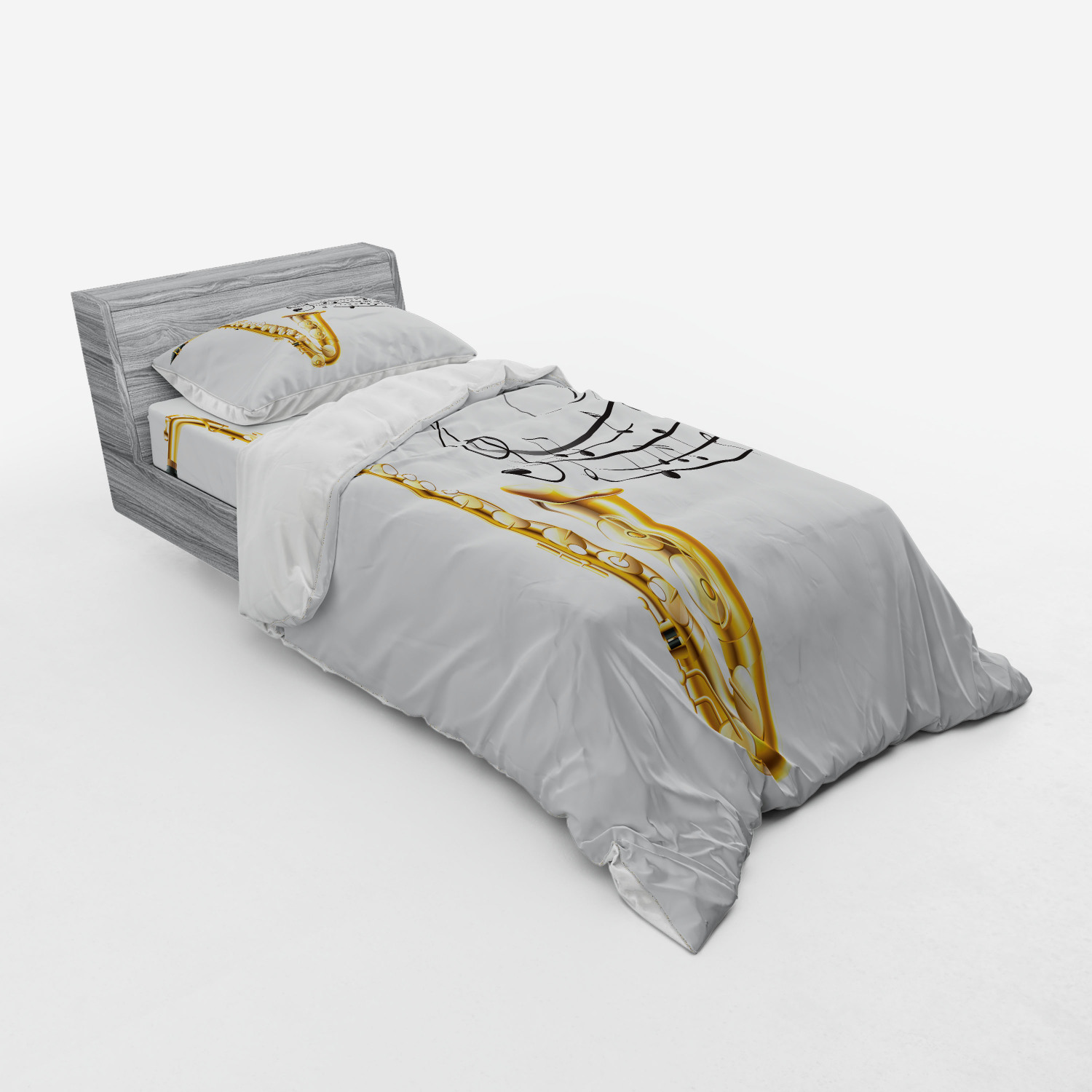 thumbnail 205 - Ambesonne Black White Art Bedding Set Duvet Cover Sham Fitted Sheet in 3 Sizes