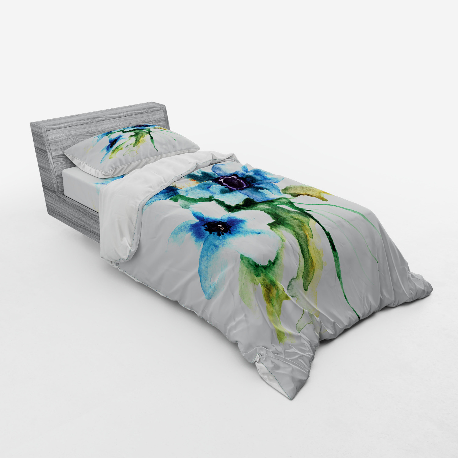 thumbnail 121 - Ambesonne Summer Bedding Set Duvet Cover Sham Fitted Sheet in 3 Sizes