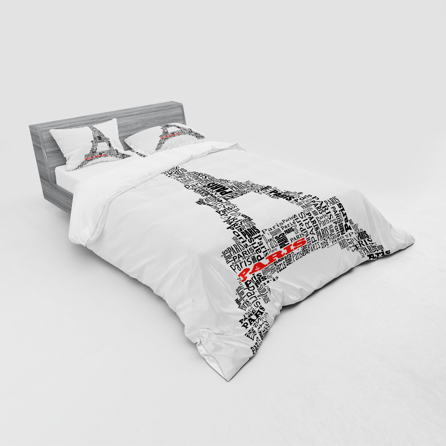 thumbnail 167 - Ambesonne Black White Art Bedding Set Duvet Cover Sham Fitted Sheet in 3 Sizes