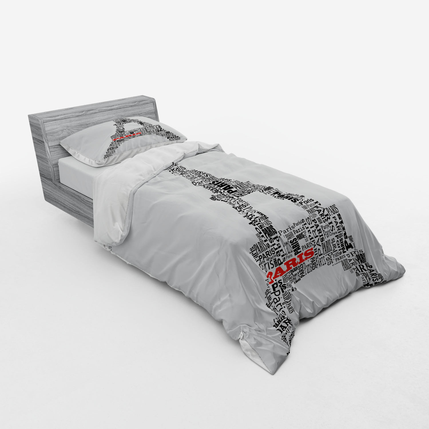 thumbnail 165 - Ambesonne Black White Art Bedding Set Duvet Cover Sham Fitted Sheet in 3 Sizes