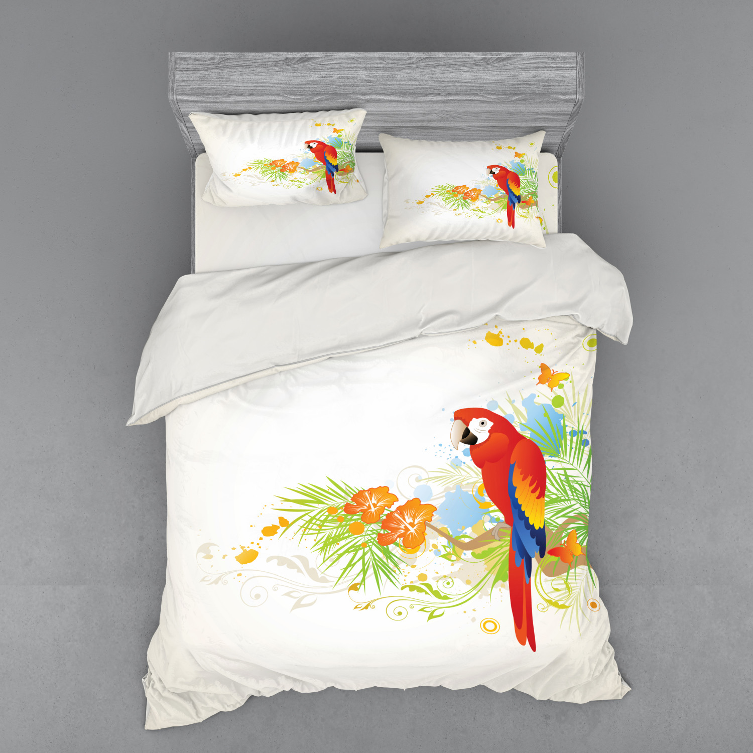 thumbnail 134 - Ambesonne Summer Bedding Set Duvet Cover Sham Fitted Sheet in 3 Sizes