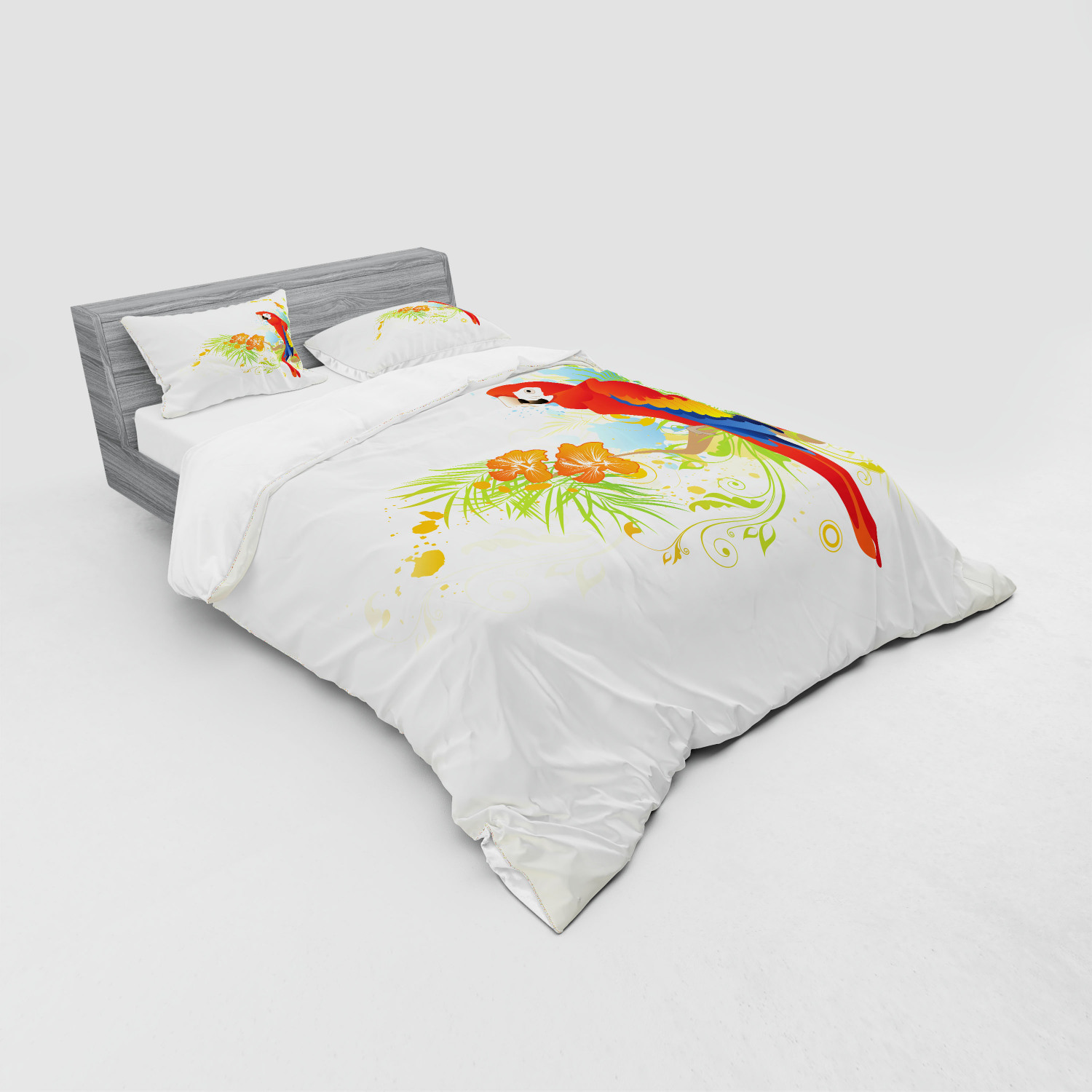 thumbnail 135 - Ambesonne Summer Bedding Set Duvet Cover Sham Fitted Sheet in 3 Sizes